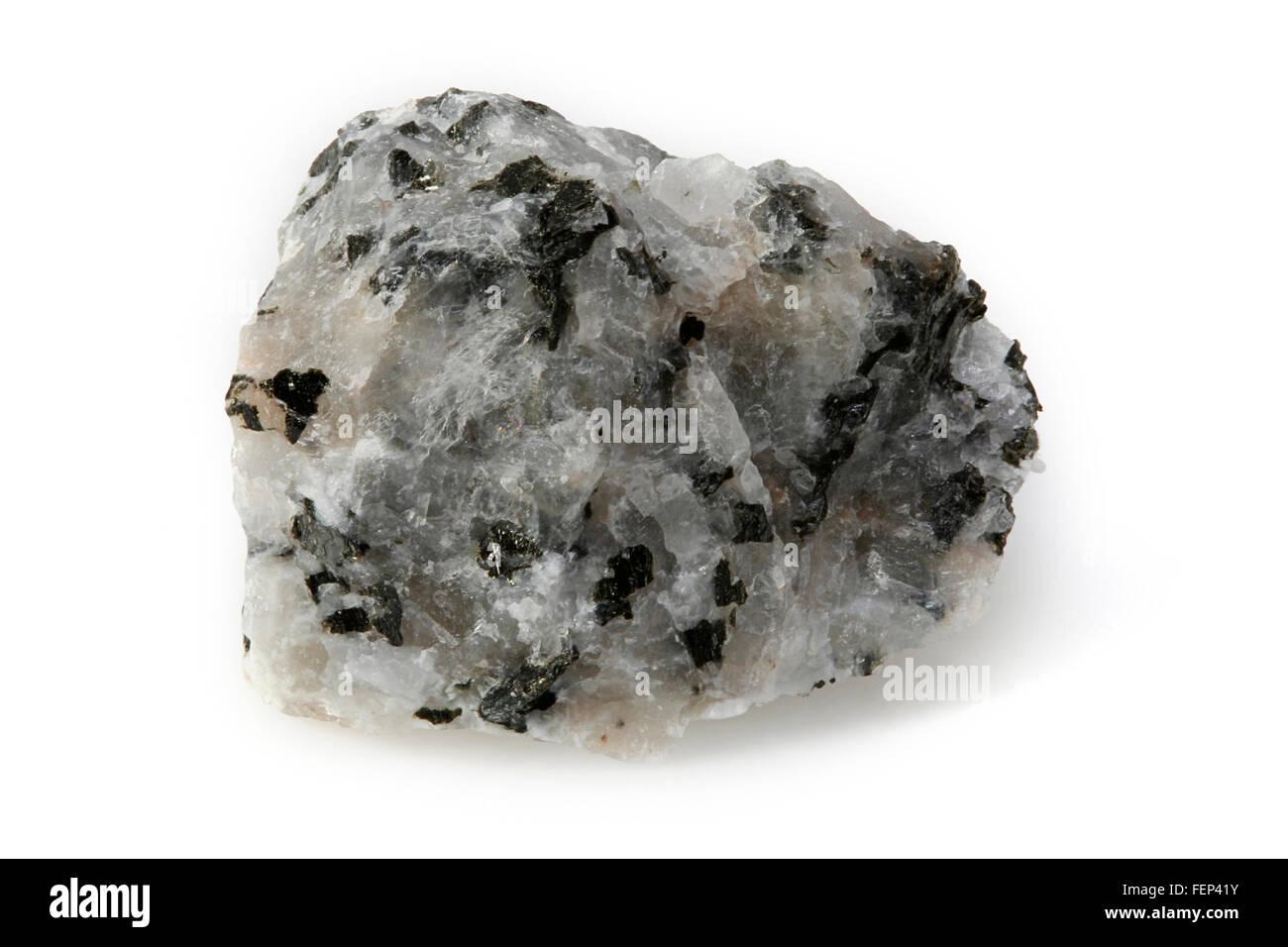 Adamellite (Quartz monzonite) an intrusive, felsic, igneous rock - Stock Image