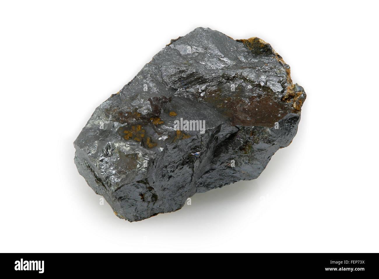 Ilmenite (titanium-iron oxide mineral) - Stock Image