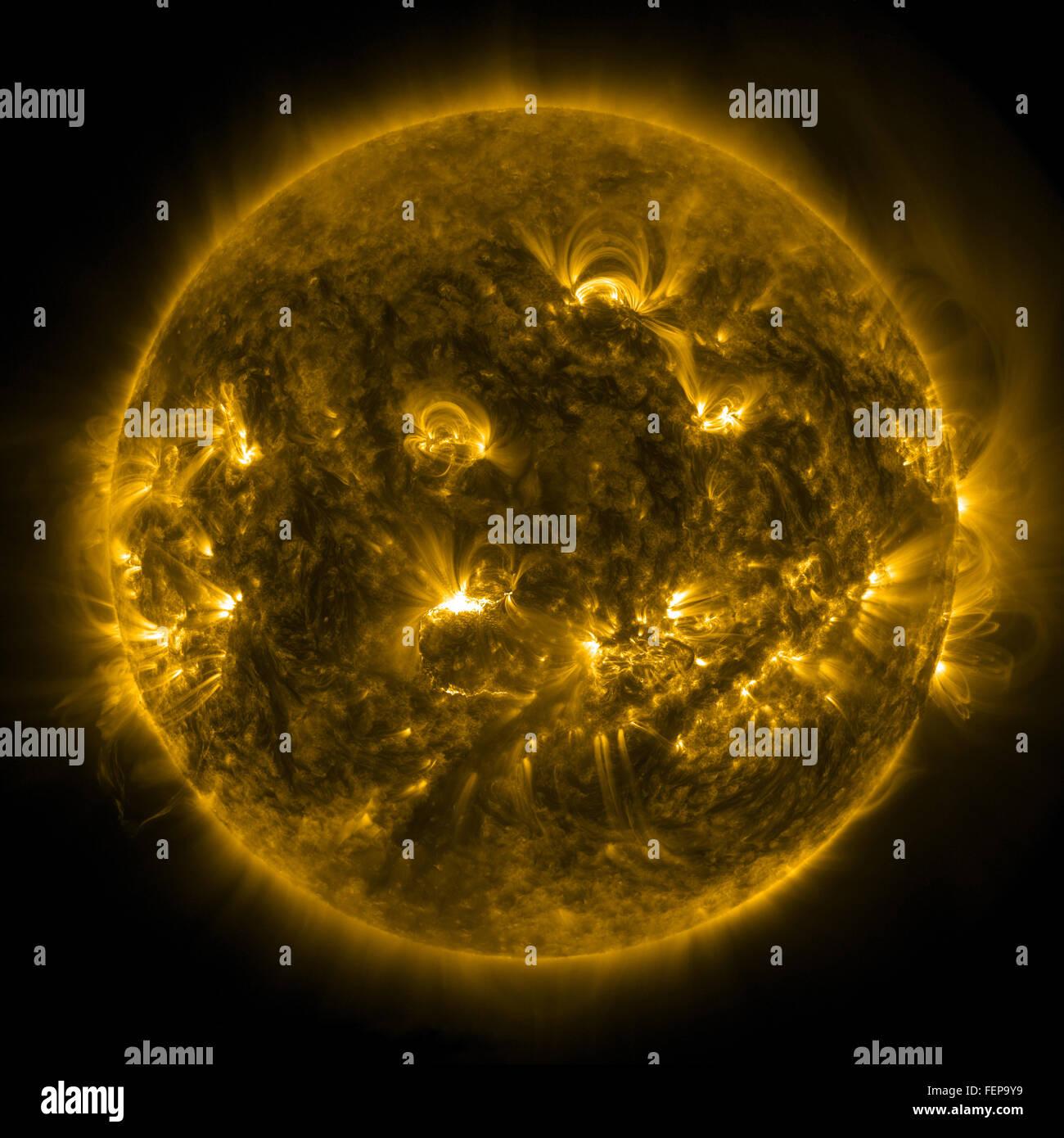 Solar Flares - Stock Image