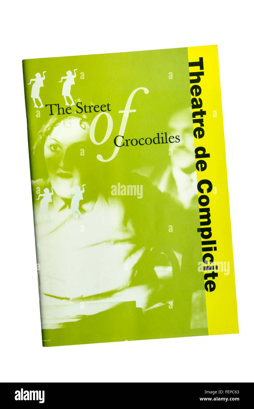 1992 programme for The Street of Crocodiles, based on stories by Bruno Schulz, by Theatre de Complicite at the Cottesloe - Stock Image
