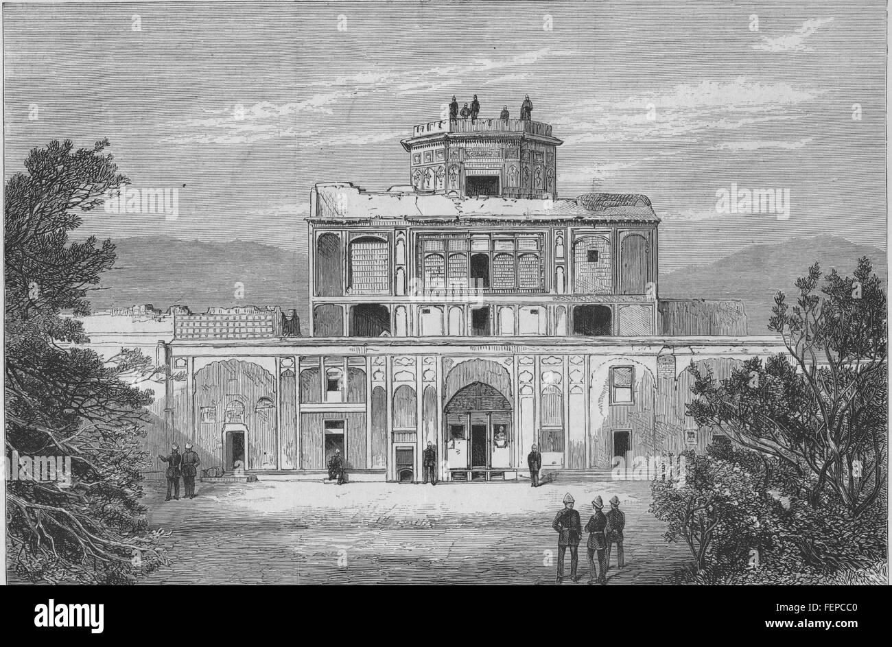 KANDAHAR sec Anglo-Afghan War Old Palace inside Citadel. Afghanistan 1880. Illustrated London News - Stock Image