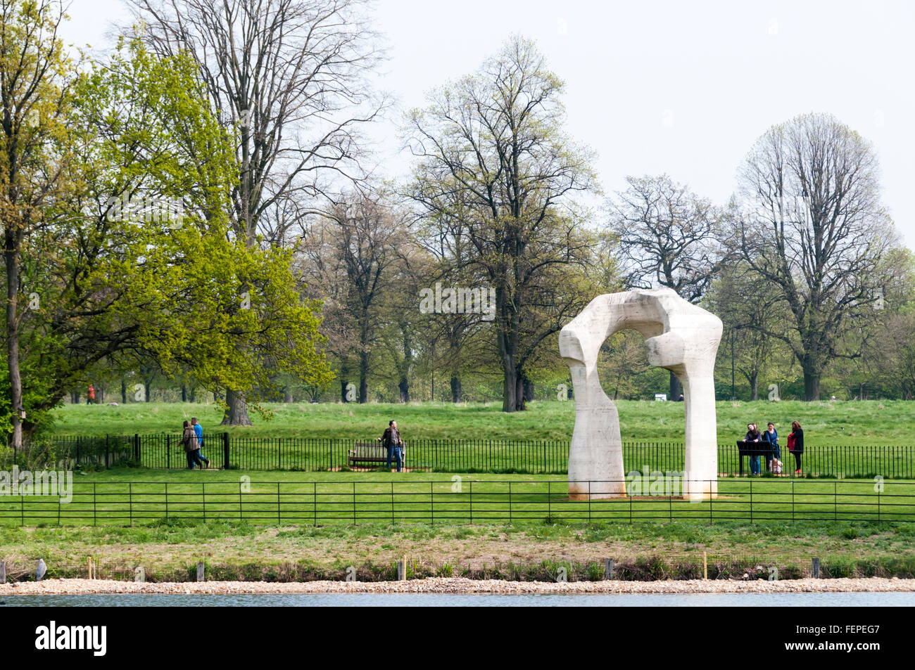The Arch by Henry Moore in Kensington Gardens, London. Stock Photo