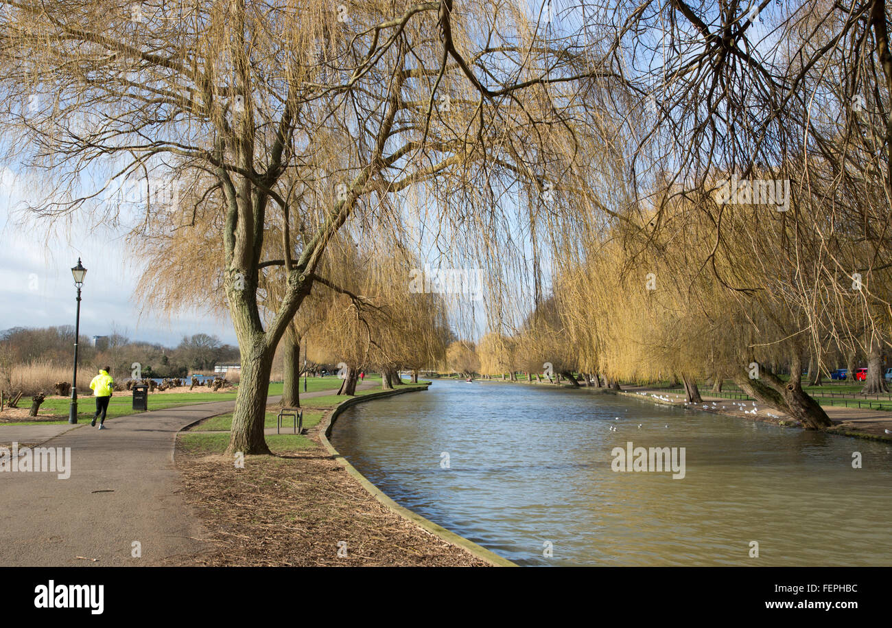 A view of the river Ouse in Bedford, England. - Stock Image