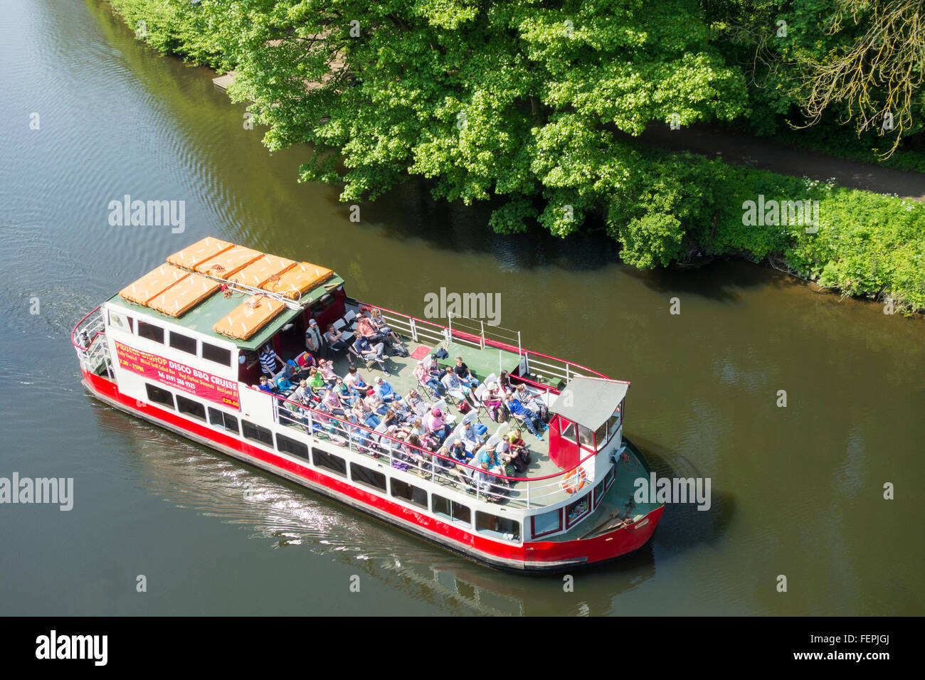 River Cruise Boat On River Wear In Durham City Durham England Uk