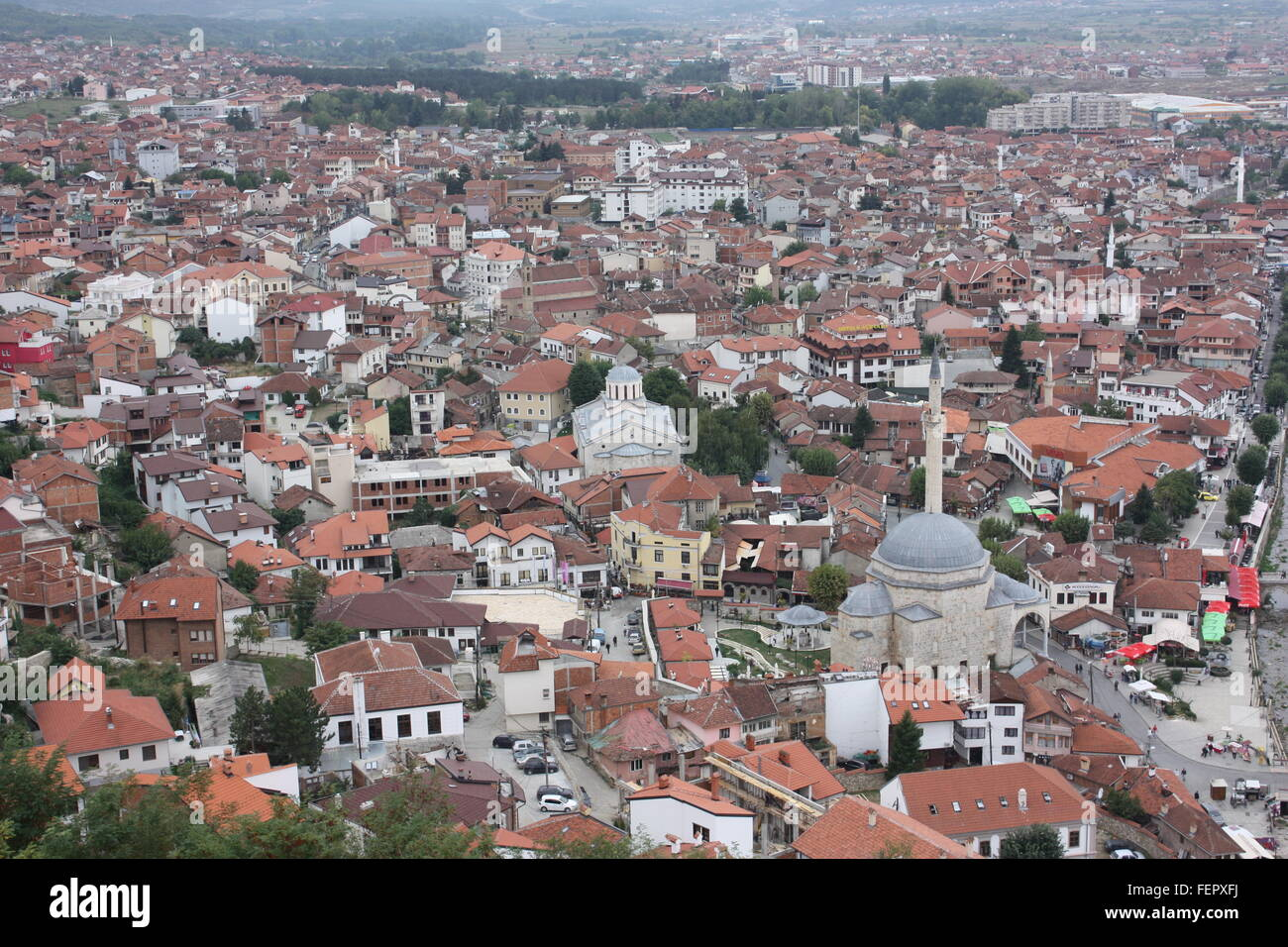 The city of Prizren in Kosovo - Stock Image