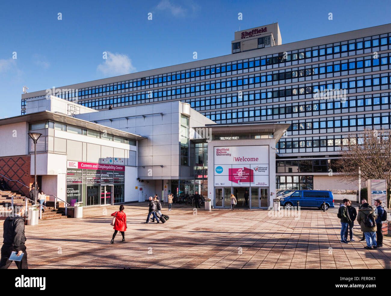 Sheffield Hallam University, Sheffield, South Yorkshire, England, UK, and the Careers and Employment Centre, on - Stock Image