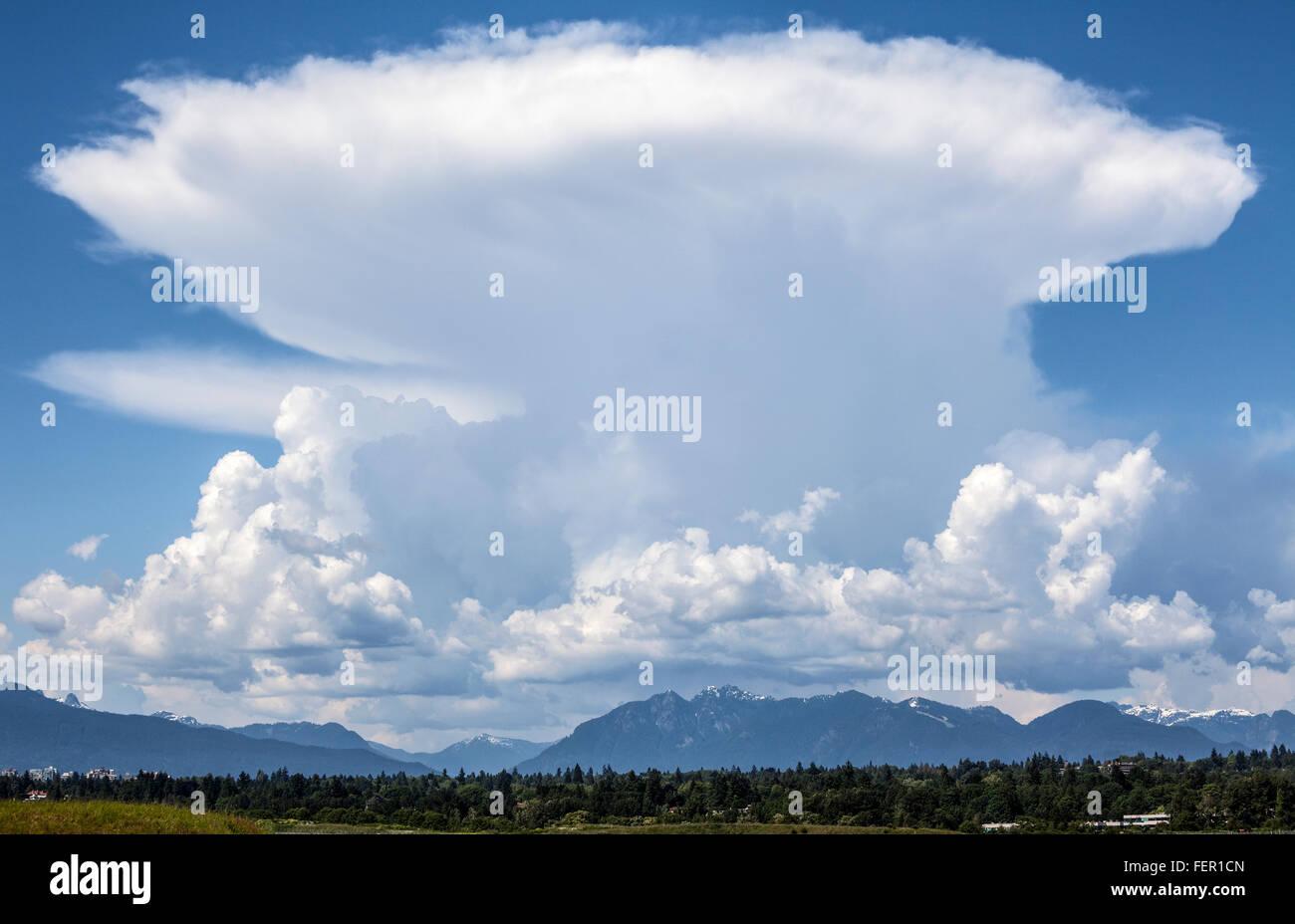 cumulonimbus cloud. - Stock Image