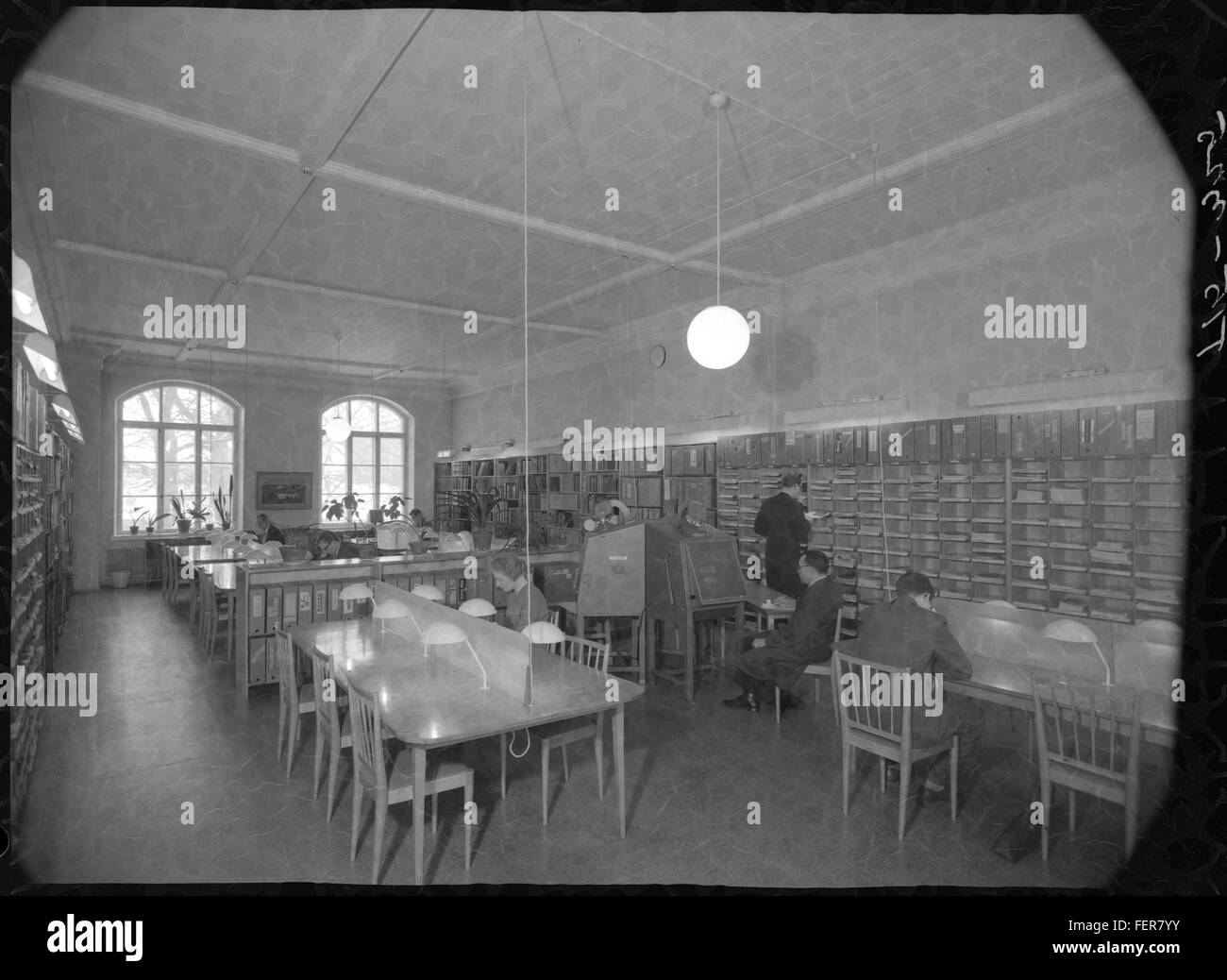 University of Technology Library in 1950's - Stock Image
