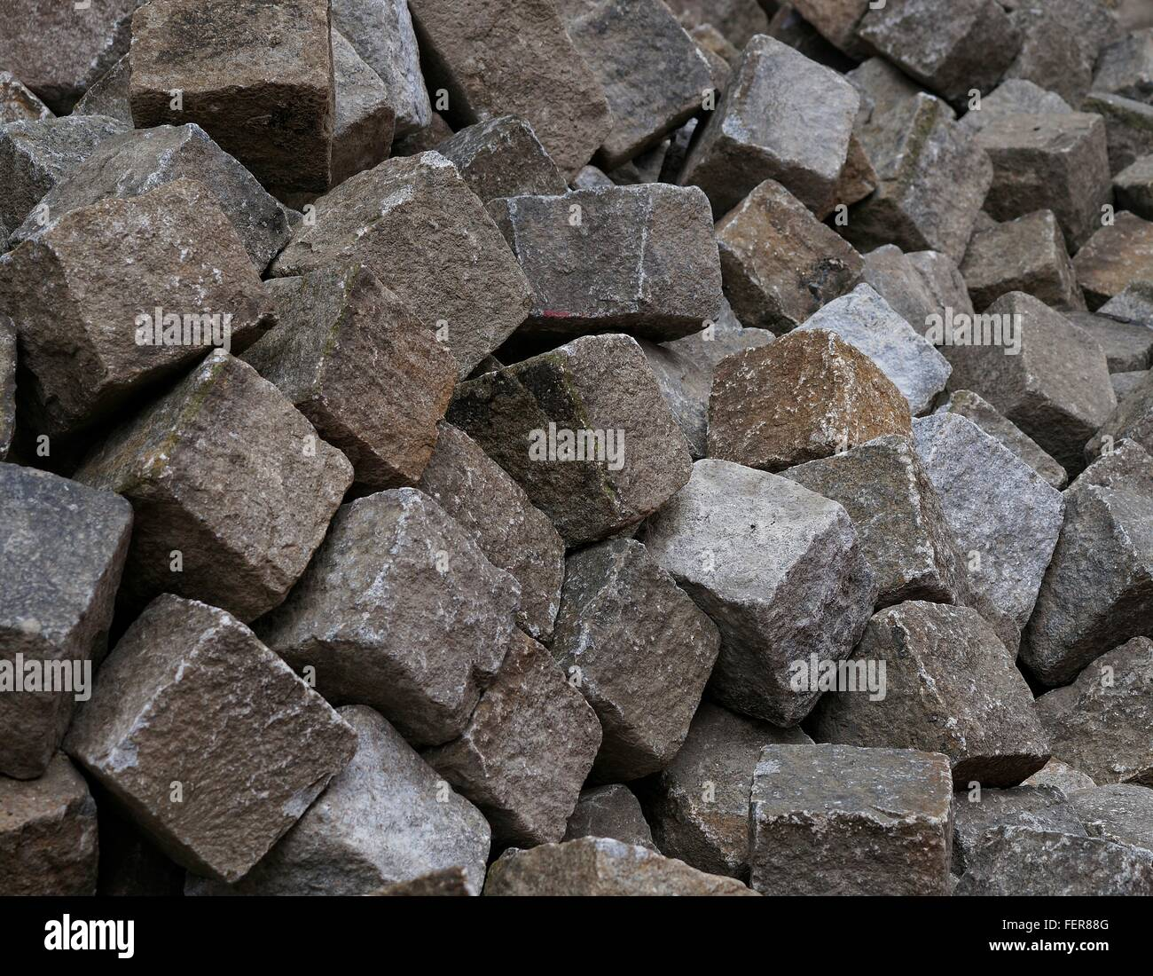 Full Frame Shot Of Cubicle Rocks - Stock Image