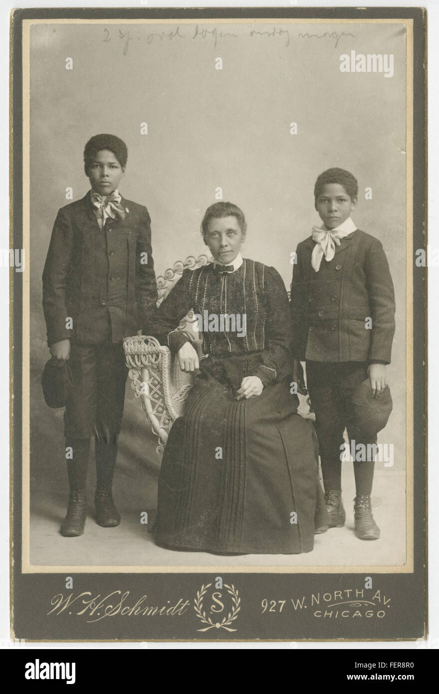 Malla Moe and the brothers Edward and Walter Clarence Malla Moe and the brothers Edward and Walter Clarence - Stock Image