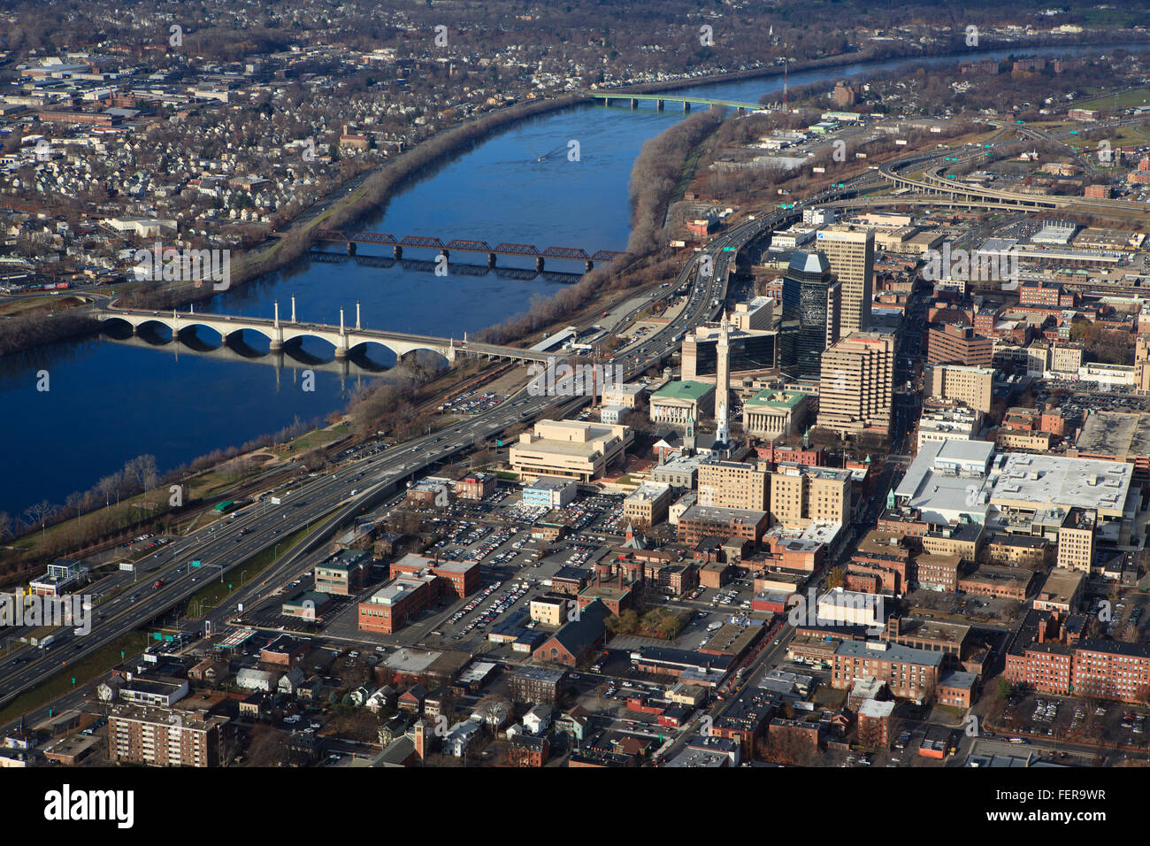 Aerial view of downtown Hartford, CT Stock Photo: 95169699 ...