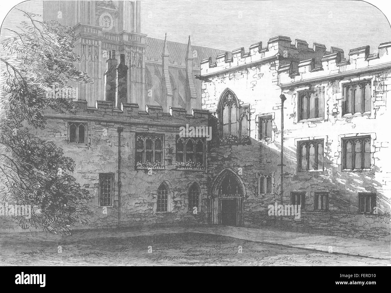 WESTMINSTER The Deanery, Dean's-Yard 1881. Illustrated London News - Stock Image