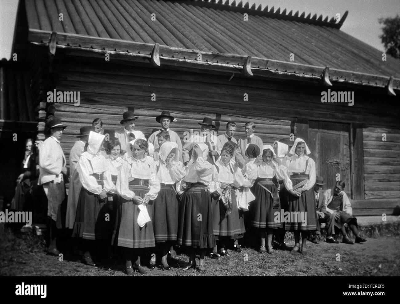 Local choir at Anders Zorn's Gammelgård, Mora, Dalarna, Sweden Local choir at Anders Zorn's Gammelgård, - Stock Image