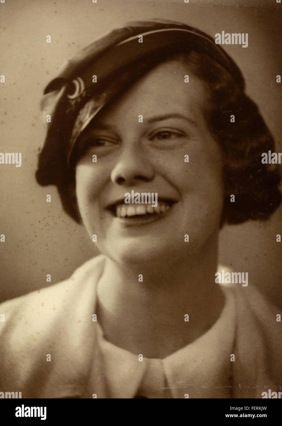 Portrett av Ebba Haslund som student / Portrait of Ebba Haslund as a student Portrett av Ebba Haslund som student - Stock Image