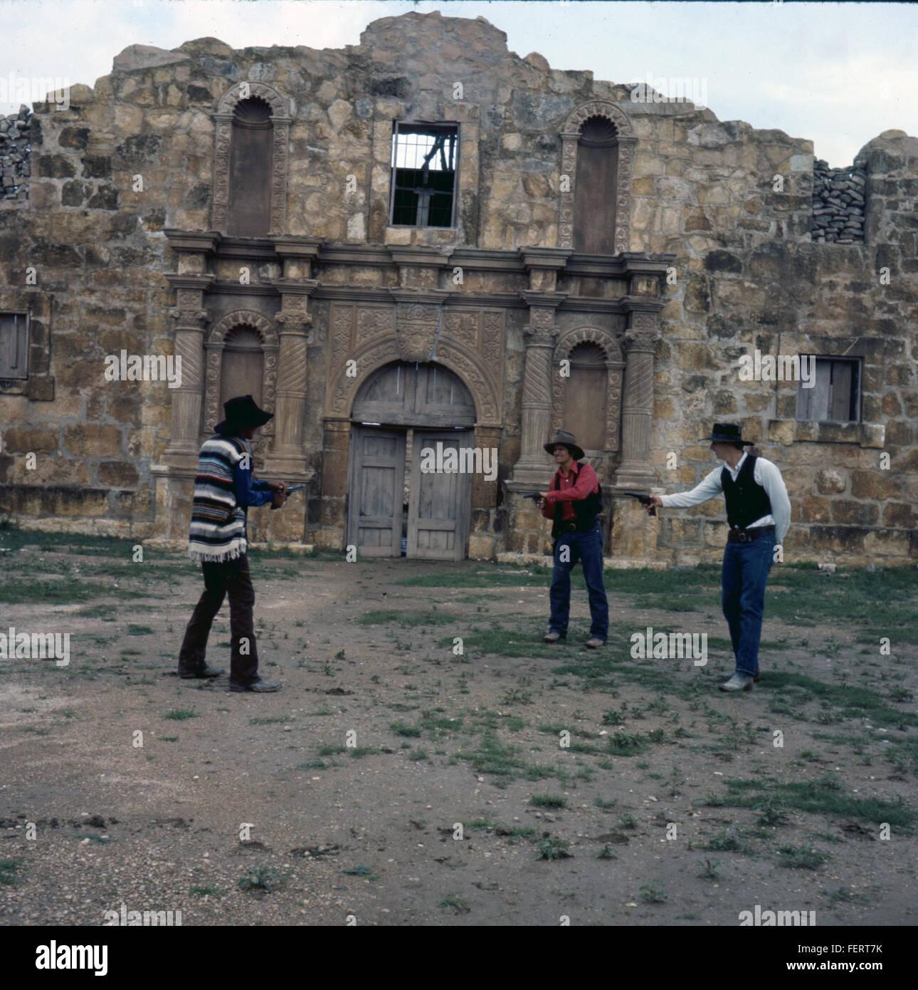 Alamo Village, Brackettville, Texas, 1971 Stock Photo