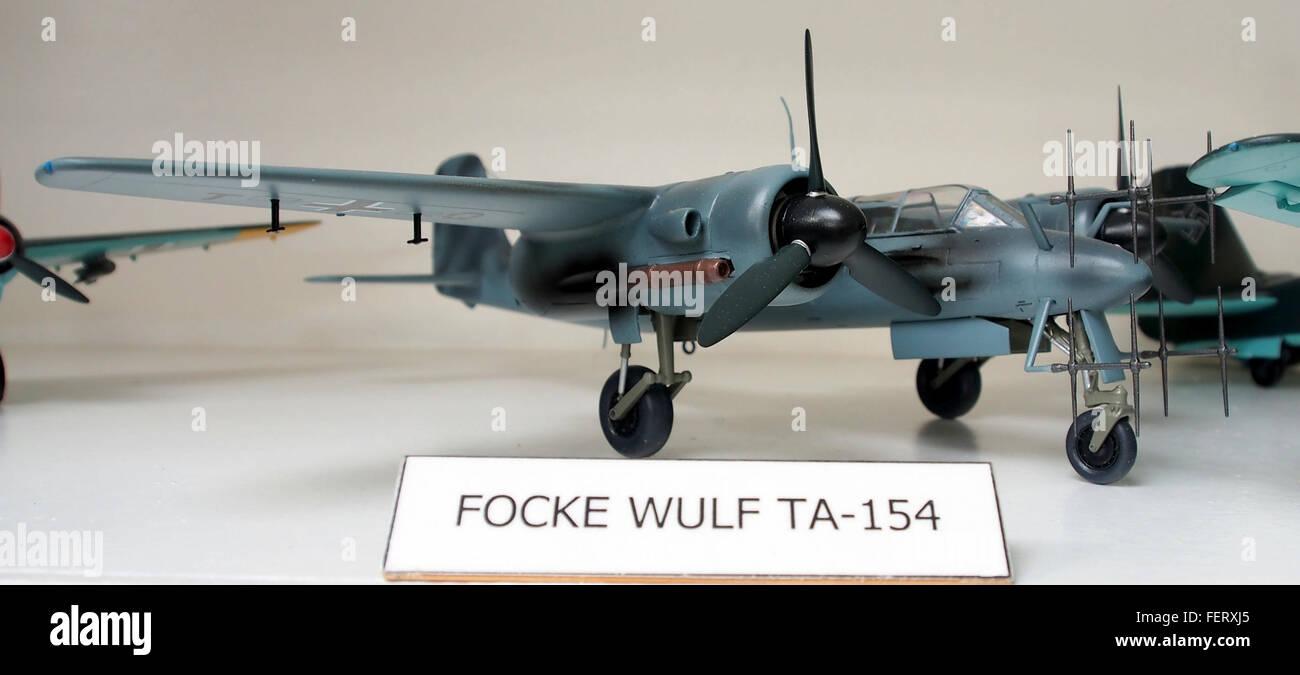 Focke Wulf TA-154 model pic3 - Stock Image
