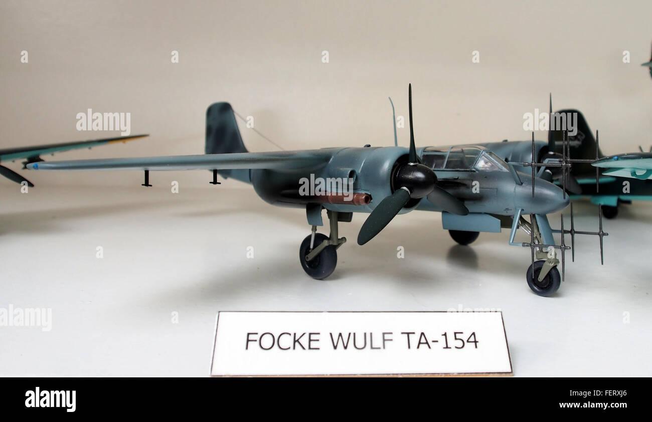 Focke Wulf TA-154 model pic1 - Stock Image