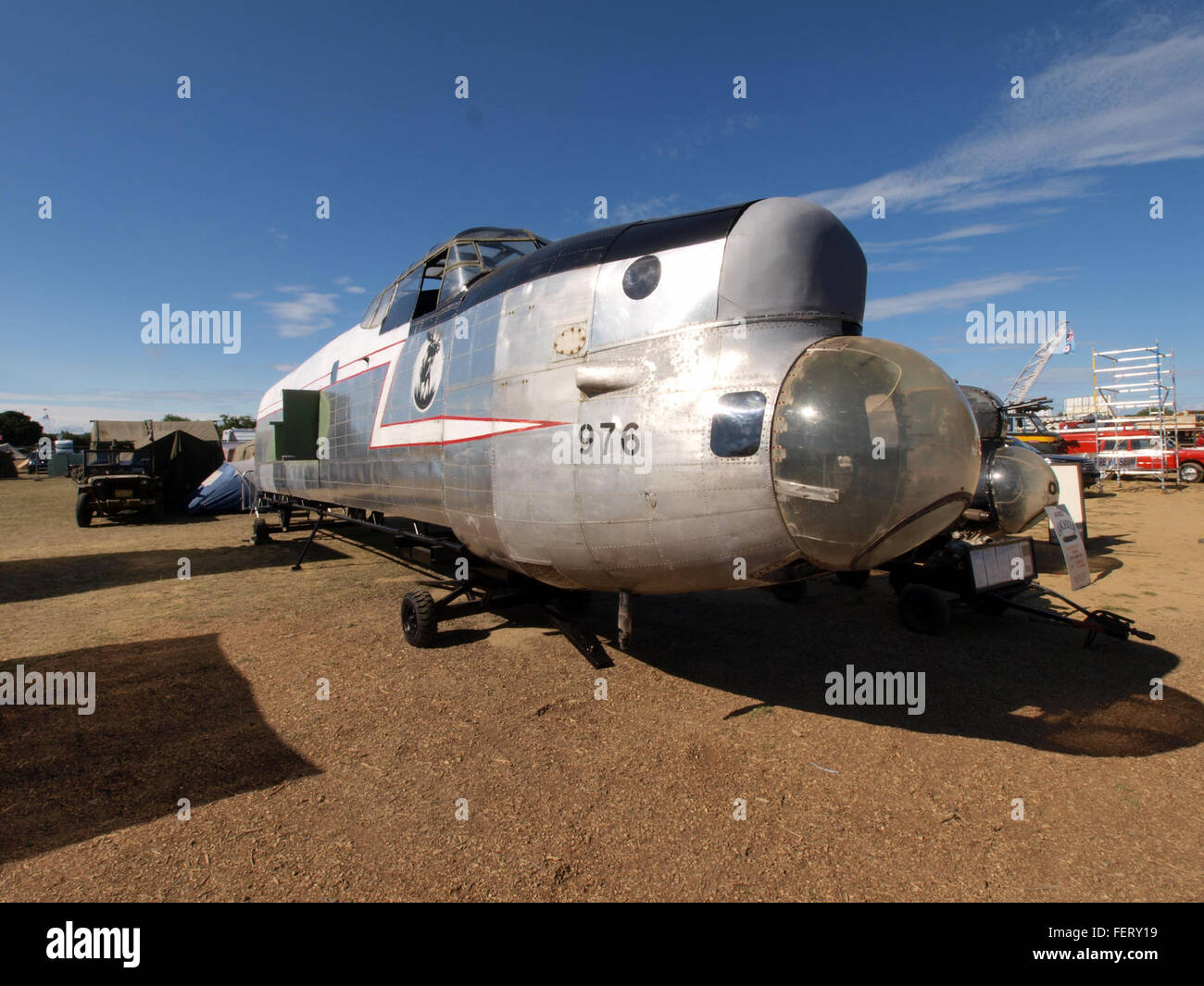 Lancaster KB976 Nose and Fuselage pic1 - Stock Image