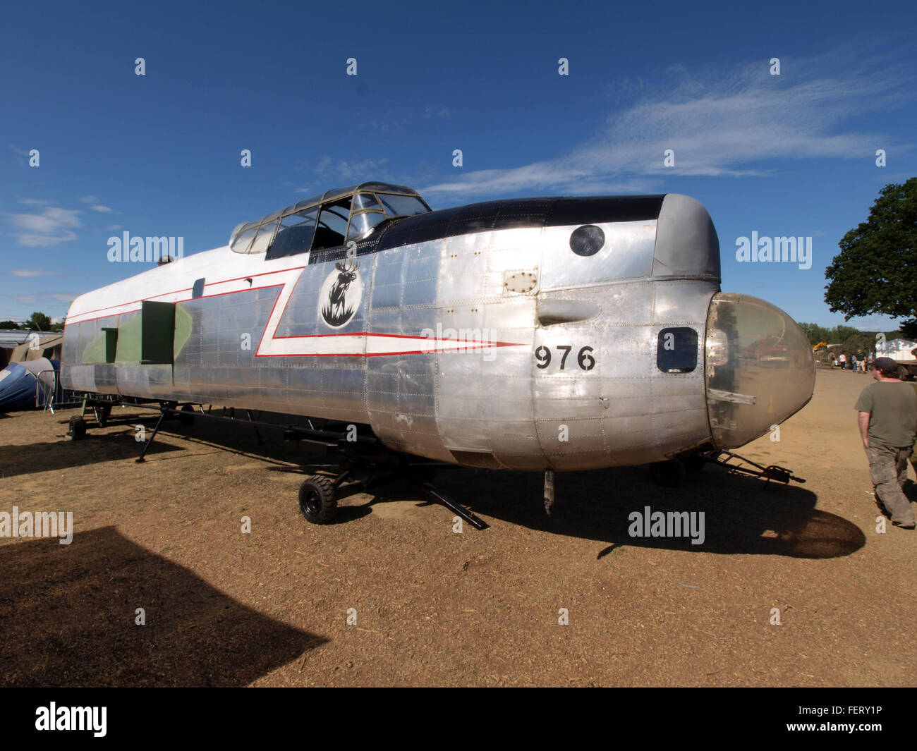 Lancaster KB976 Nose and Fuselage pic2 - Stock Image