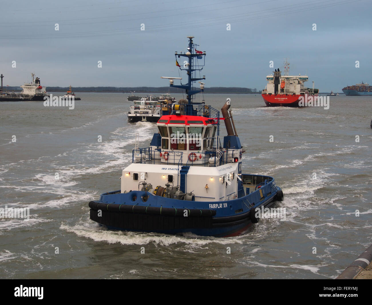 Fairplay (ship, 2009), IMO 9541708, Port of Antwerp pic2 - Stock Image
