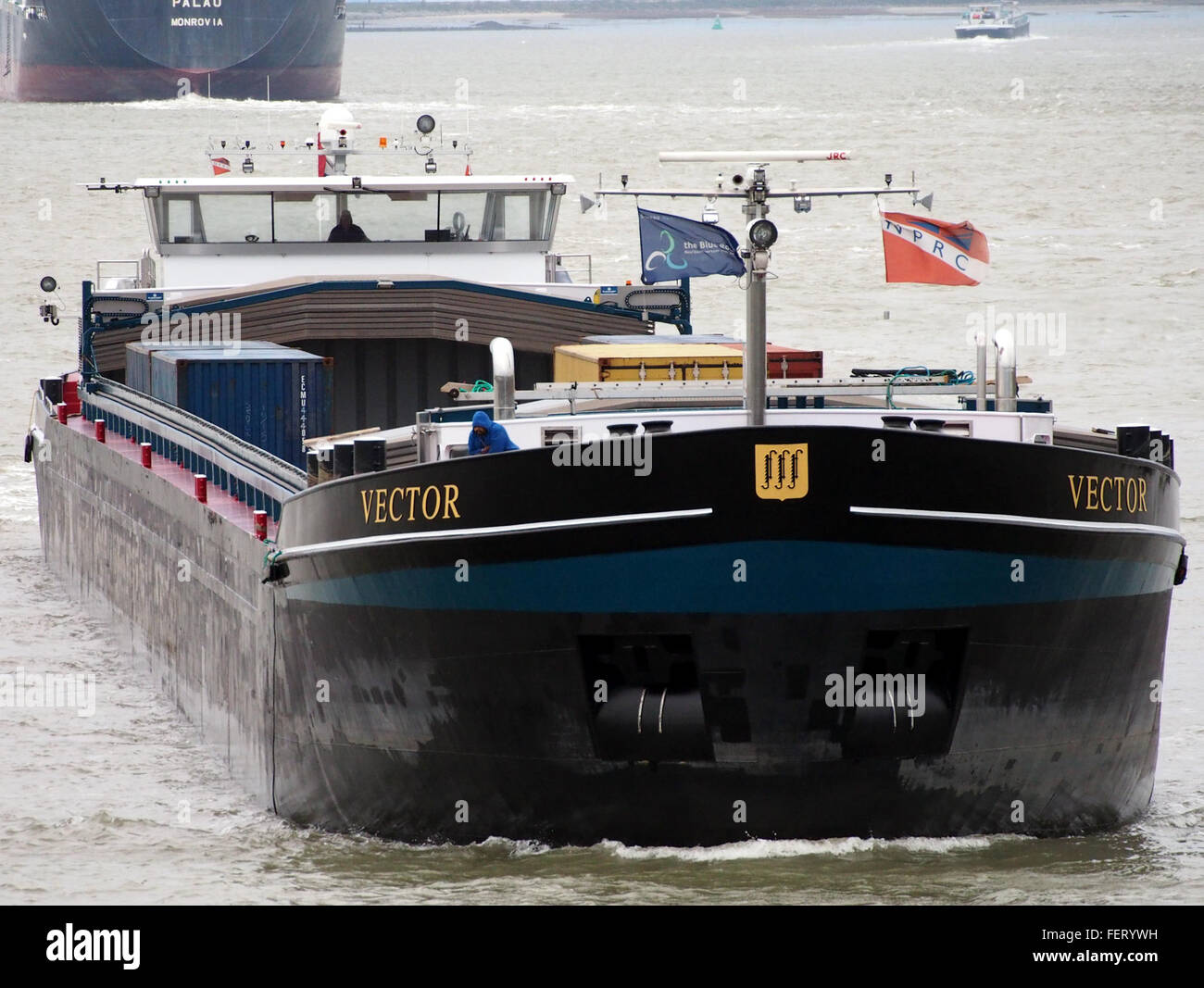 Vector (ship, 2008), ENI 02331015 Port of Antwerp pic4 - Stock Image