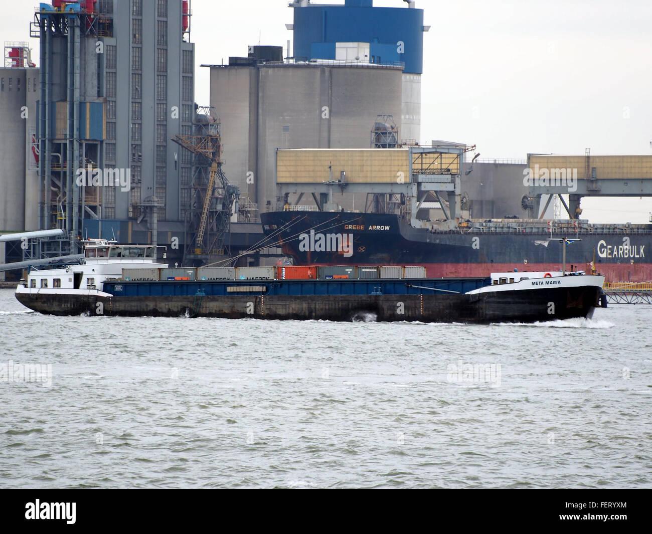 Meta Maria (ship, 1970), ENI 02319760, Port of Antwerp - Stock Image