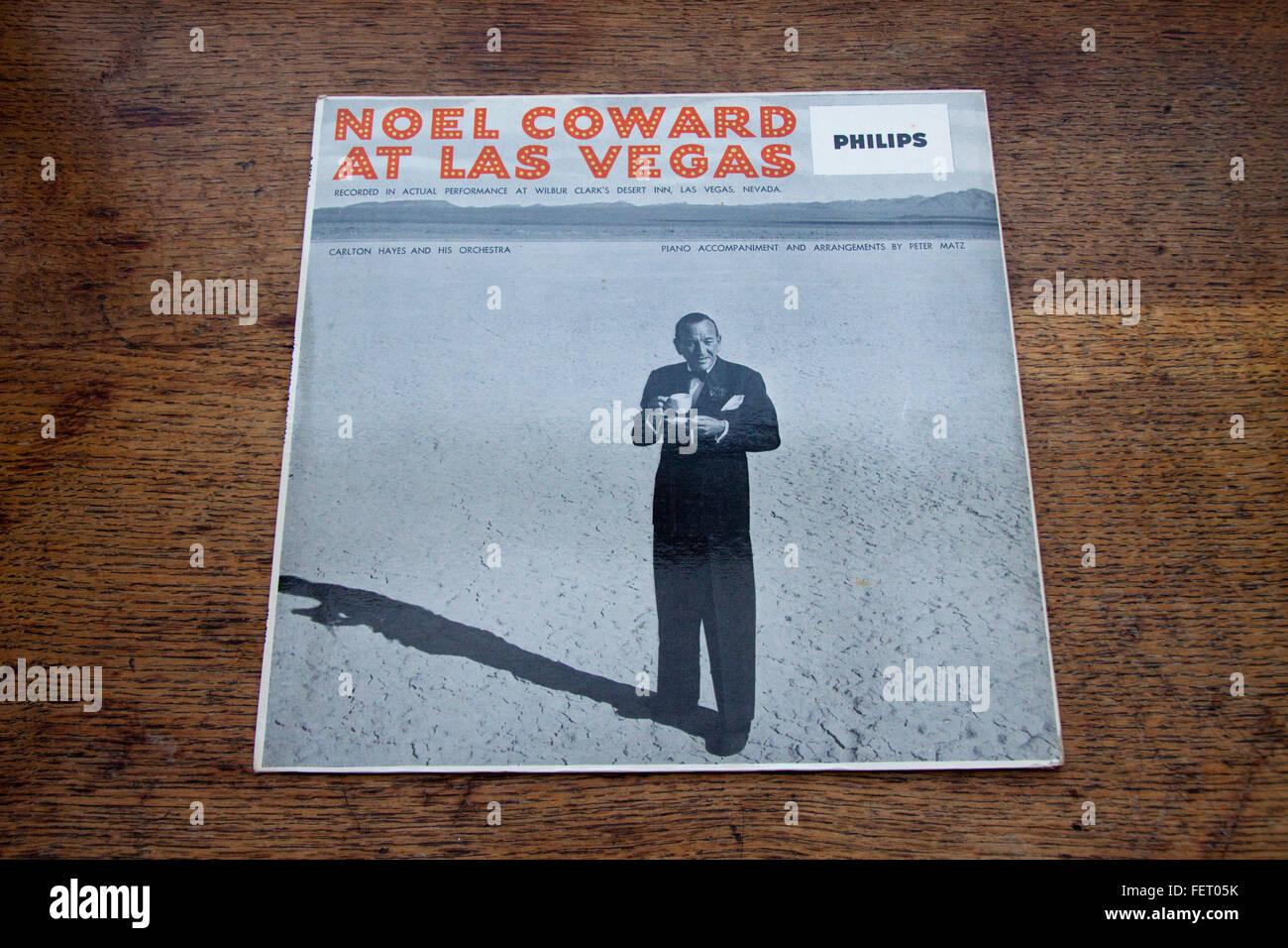 Front cover of Noel Coward's 1955 live album Noel Coward At Las