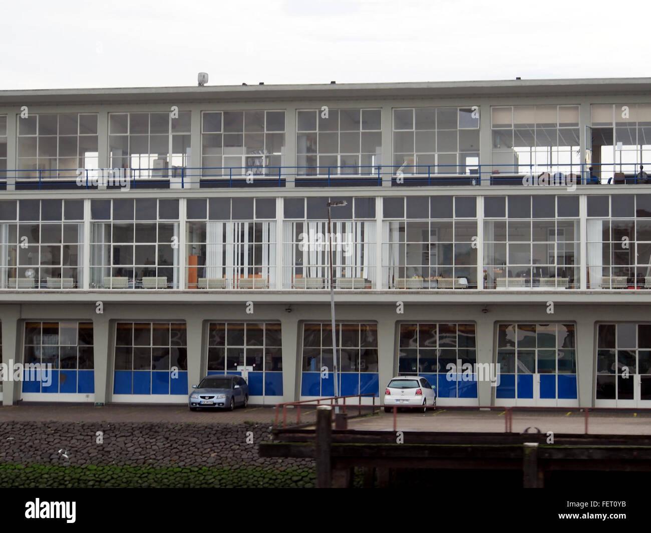 Clondalkin 50s gebouw aan de Maas pic2 - Stock Image