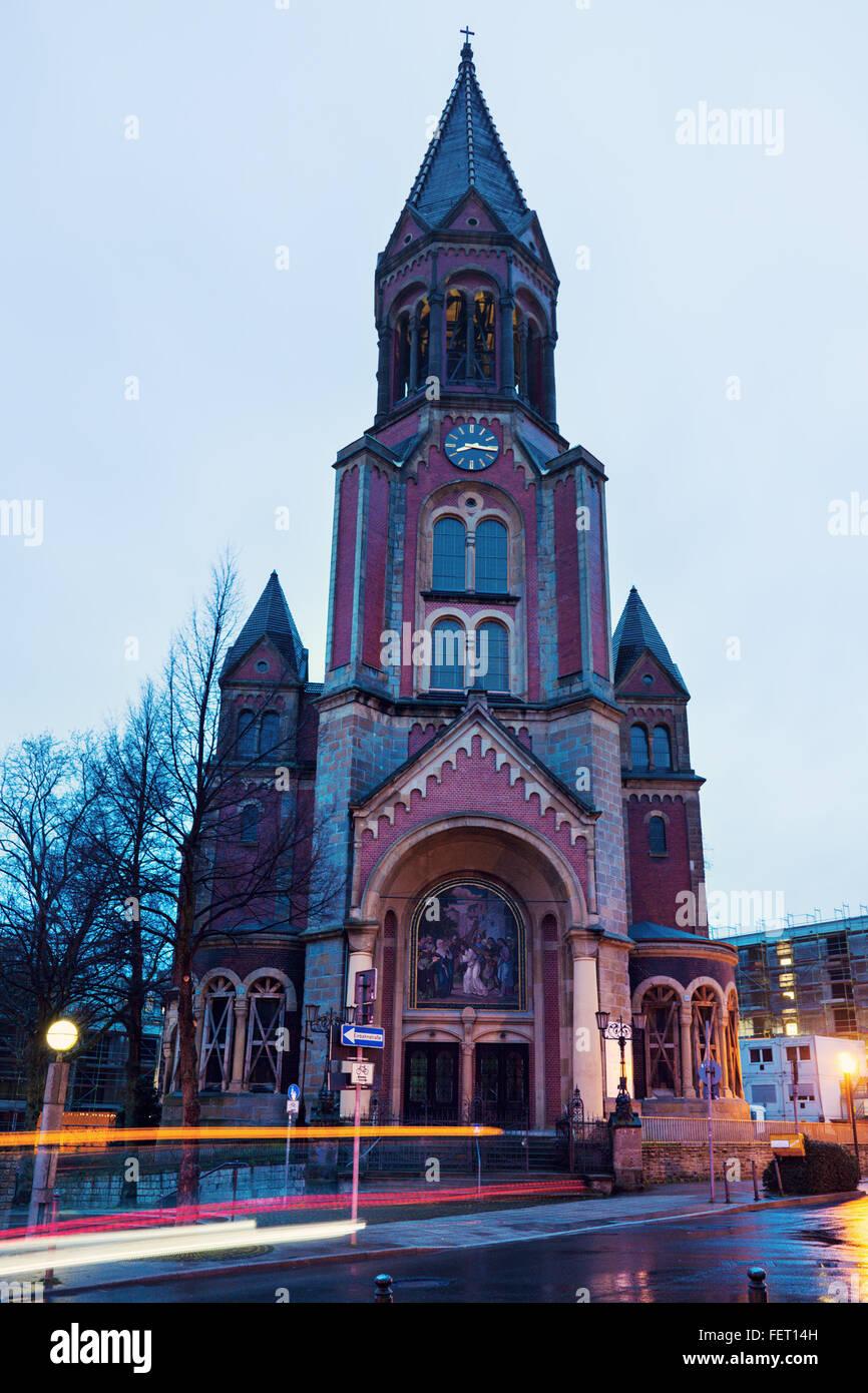 Kreuzeskirche in Essen - Stock Image