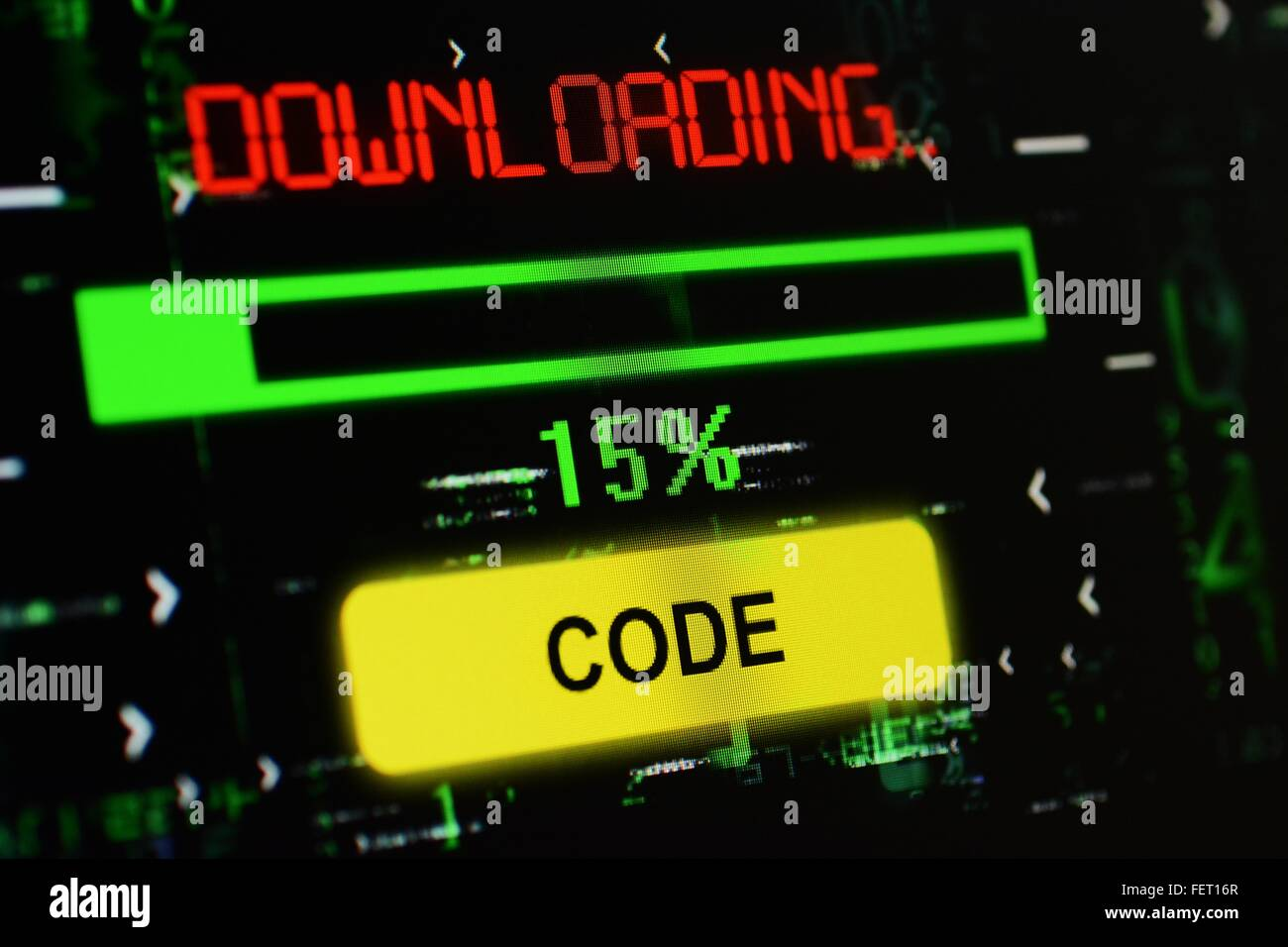Downloading code - Stock Image