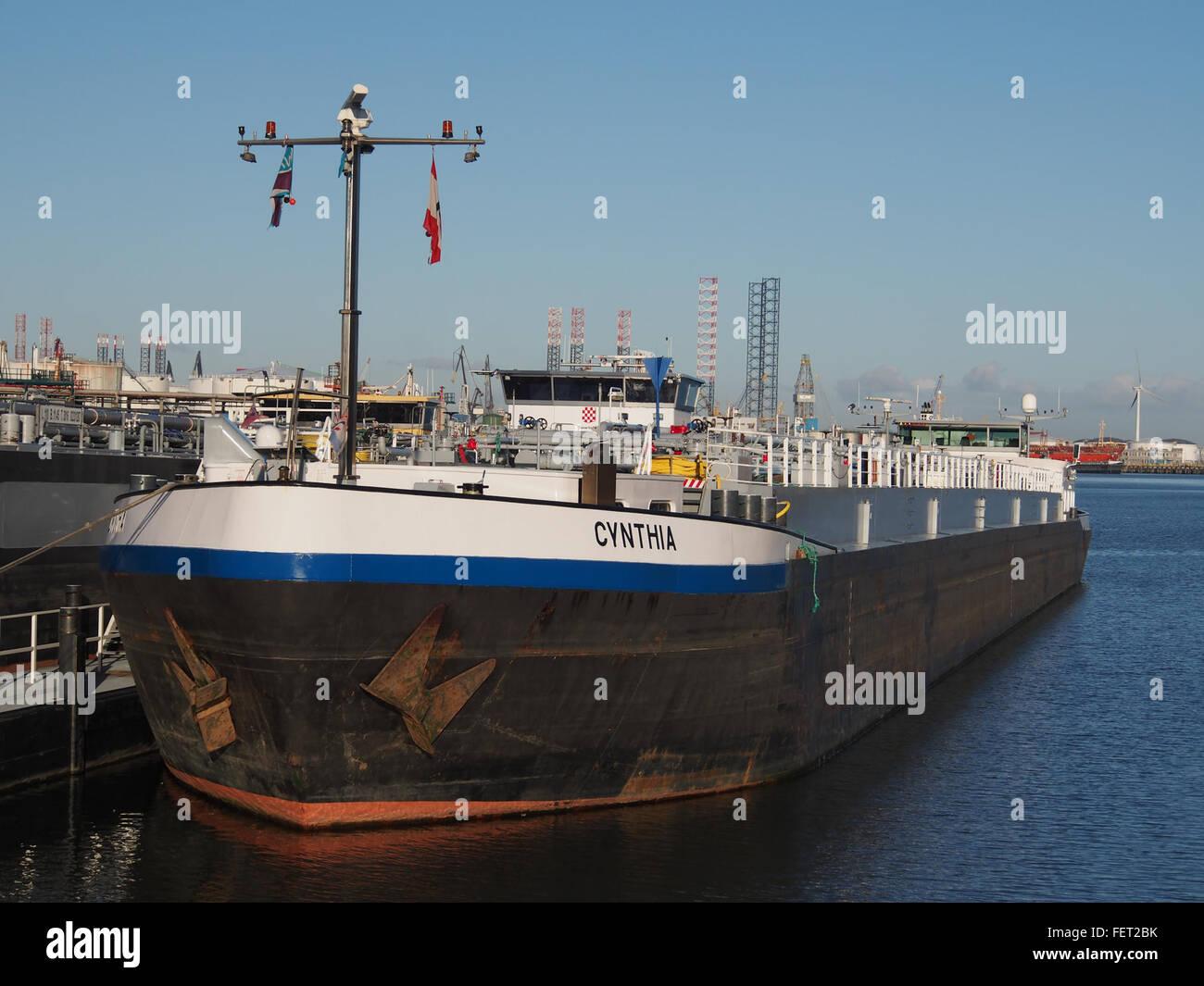 Cynthia (ship, 1993) ENI 07001733 Port of Rotterdam pic4 Stock Photo