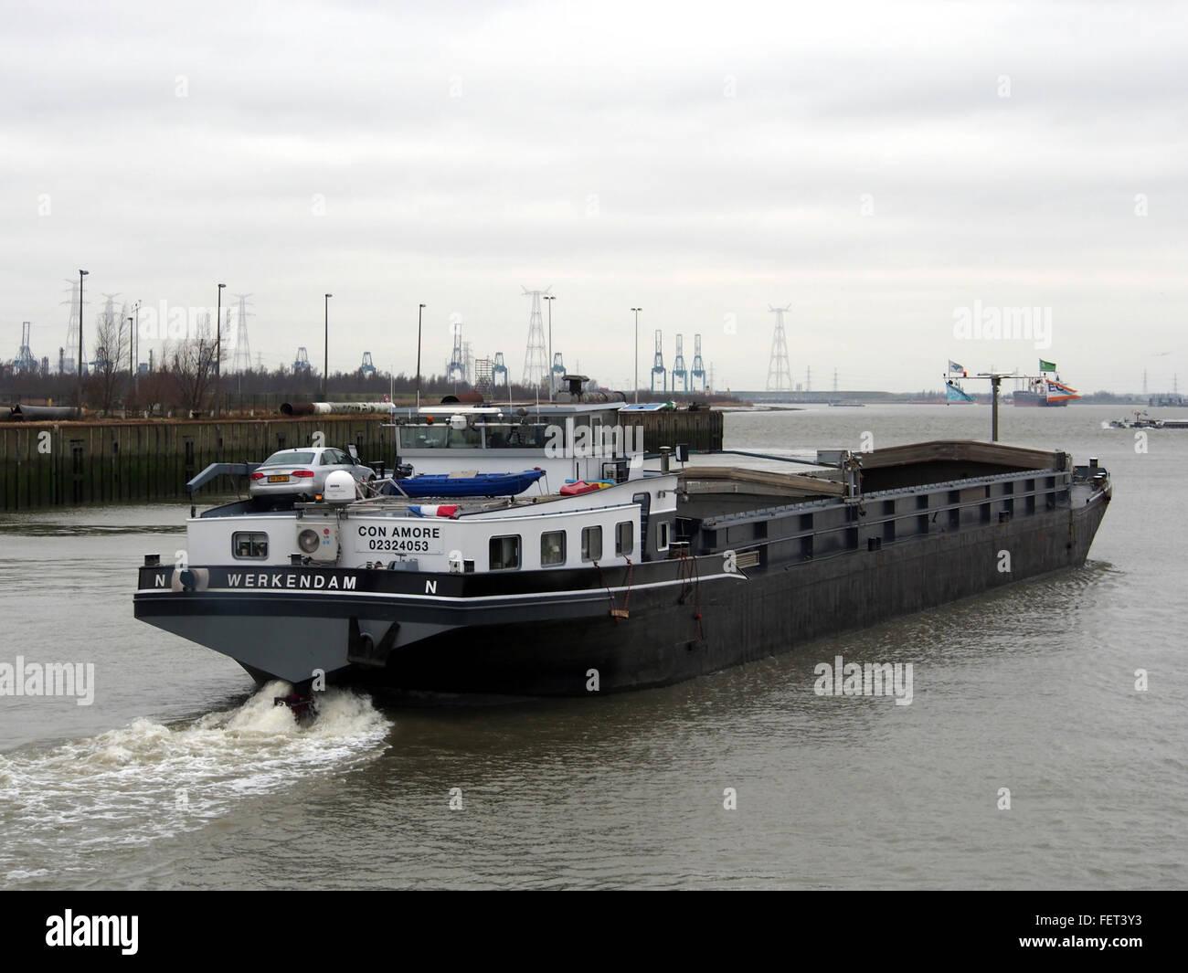 Con Amore (ship, 1956) ENI 02324053 Boudewijnsluis Port of Antwerp pic3 - Stock Image