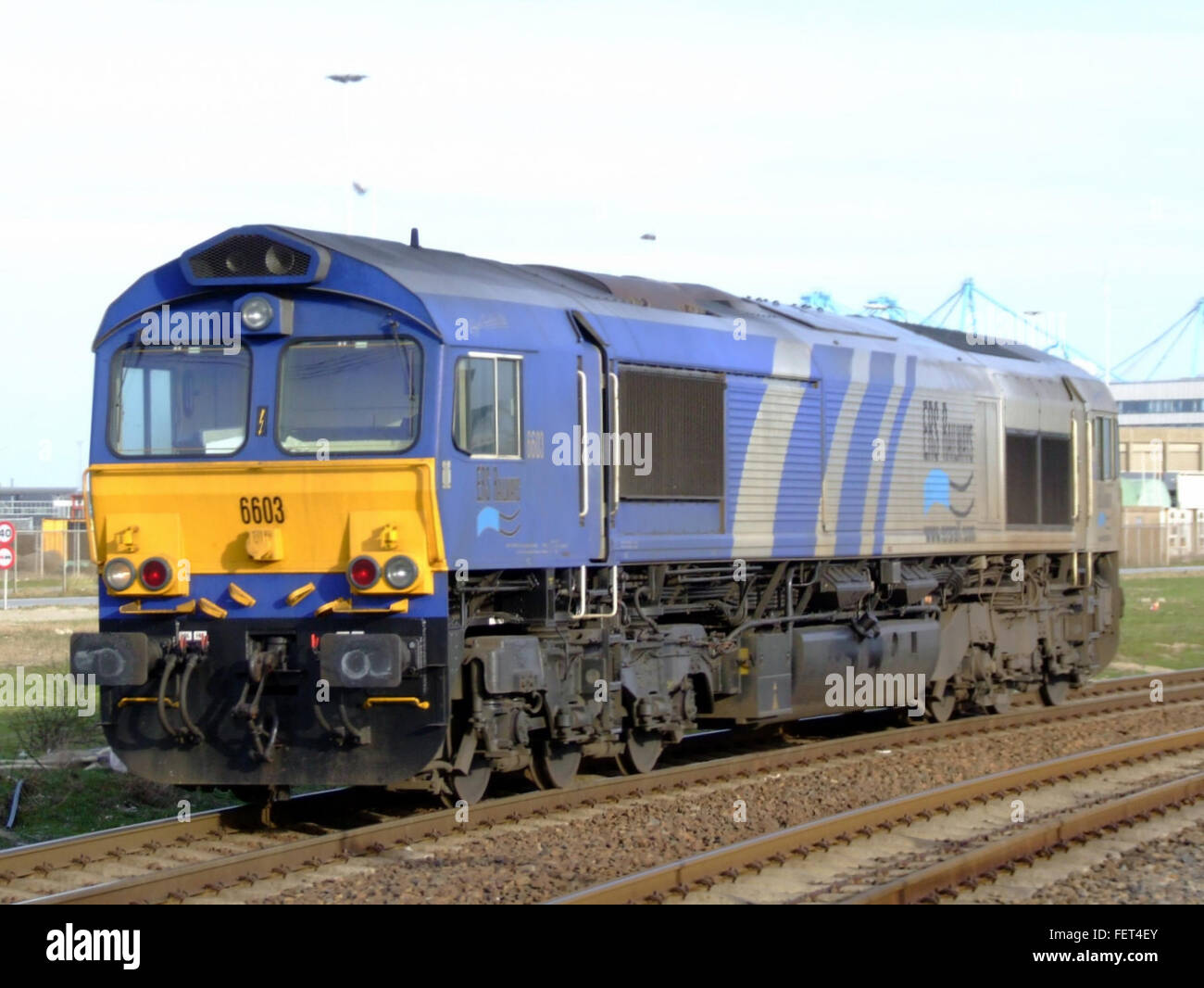 Electro Motive Diesel >> General Motors Electro Motive Diesel Class 66 6603 Stock Photo