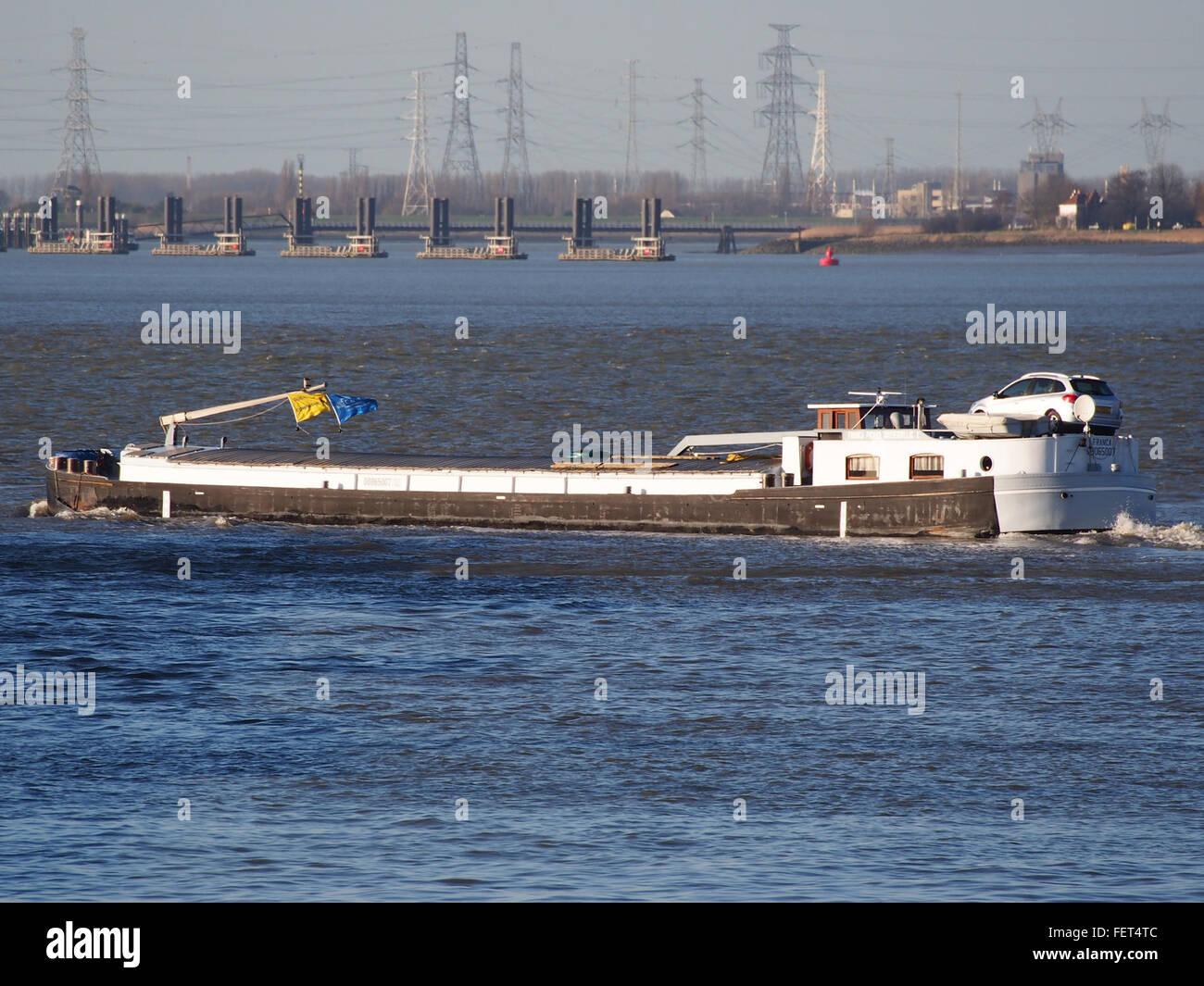 Franca ENI 08065007 Port of Antwerp - Stock Image