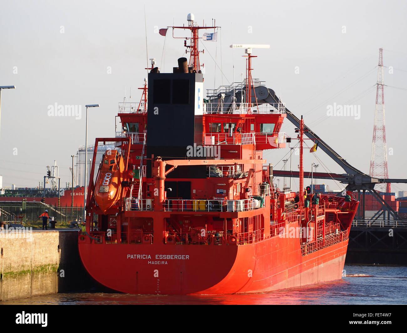 Patricia Essberger (ship, 2000) IMO 9212486 Boudewijnsluis, Port of Antwerp pic4 - Stock Image