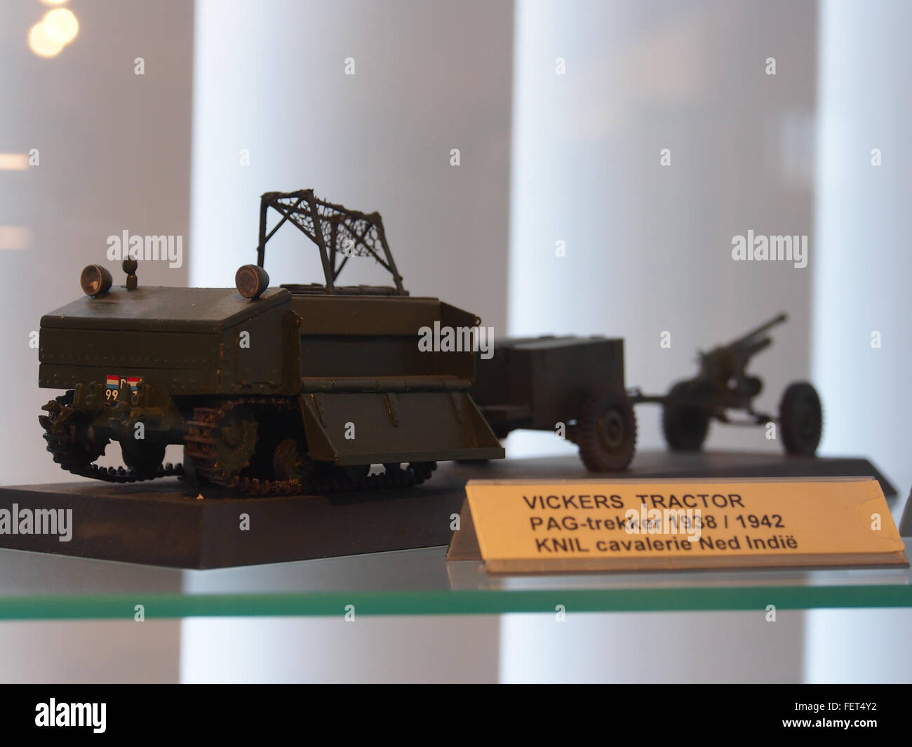 Model of a Vickers Tracktor PAG trekker - Stock Image