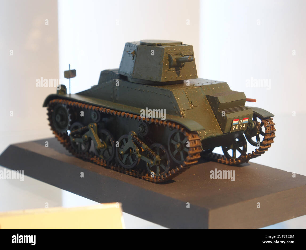Model at the Dutch Cavalry Museum, Bernhardkazerne pic2 - Stock Image