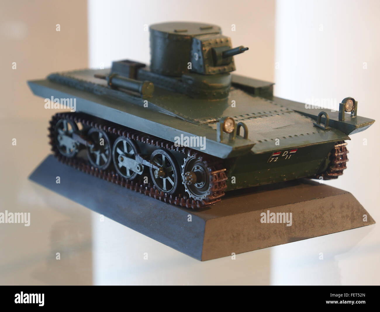 Model at the Dutch Cavalry Museum, Bernhardkazerne pic3 - Stock Image