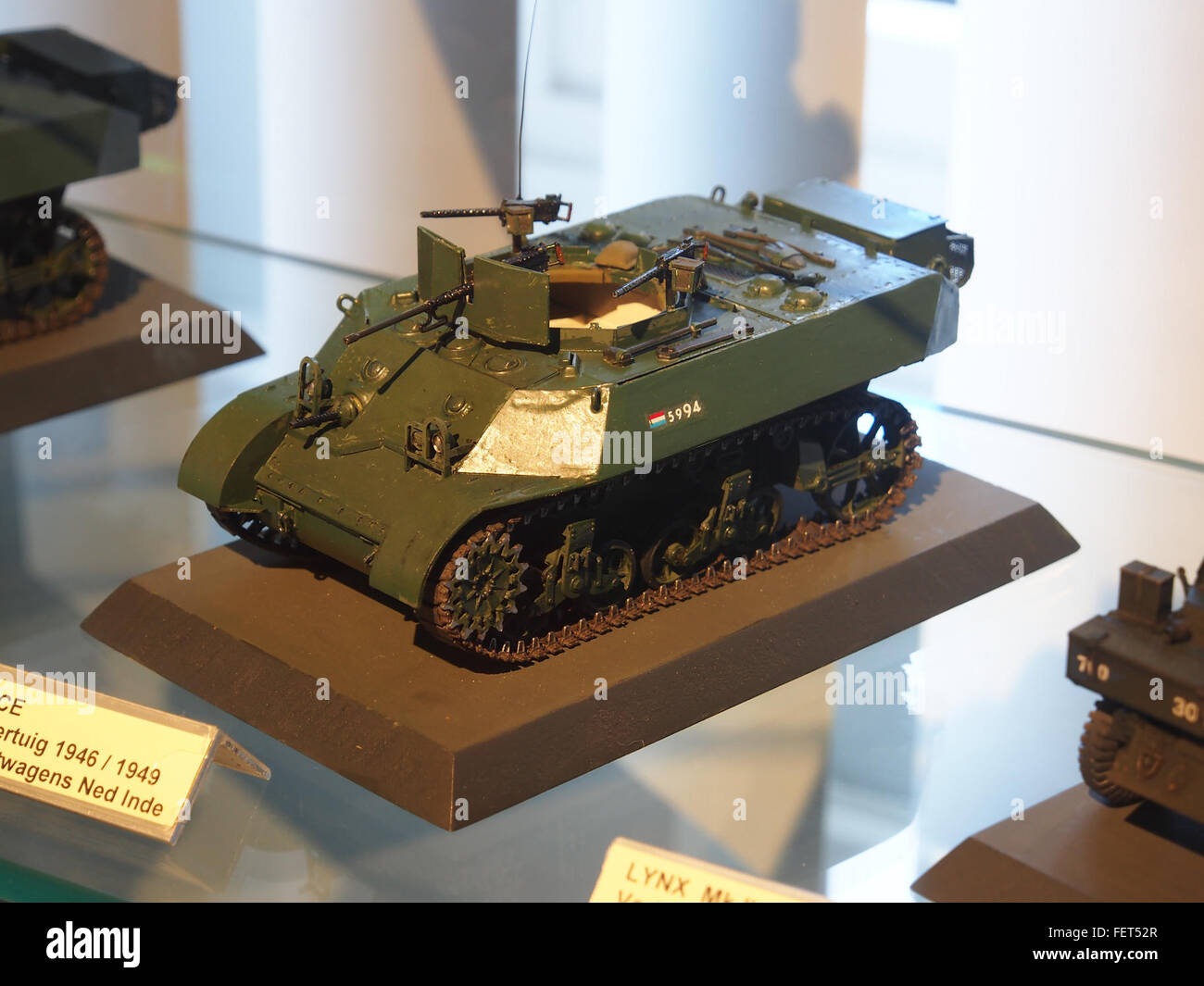 Model at the Dutch Cavalry Museum, Bernhardkazerne pic5 - Stock Image
