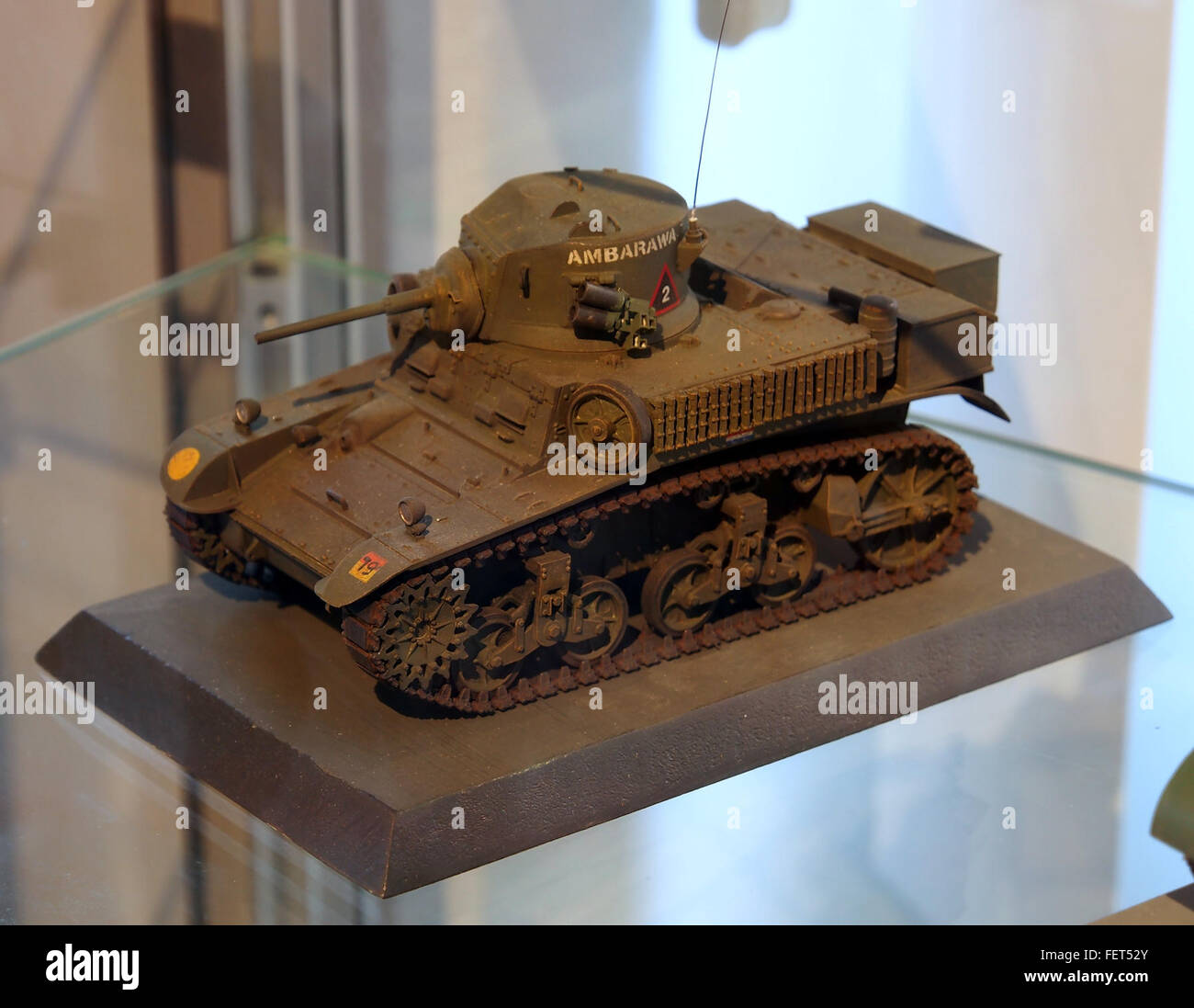 Model at the Dutch Cavalry Museum, Bernhardkazerne pic4 - Stock Image