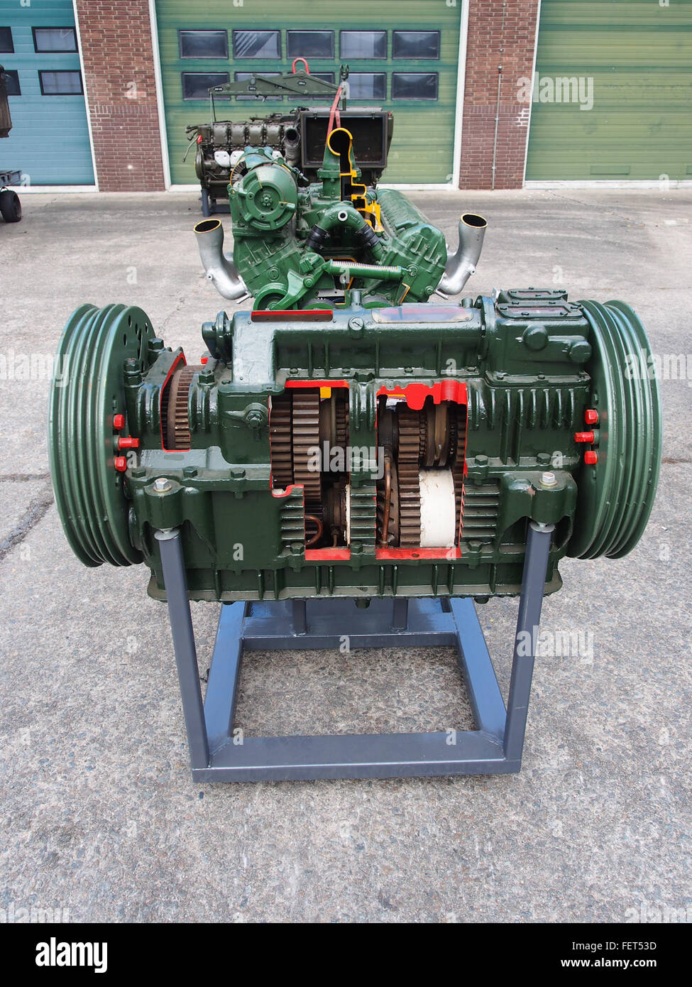 Centurion tank engine and transmission pic3 - Stock Image