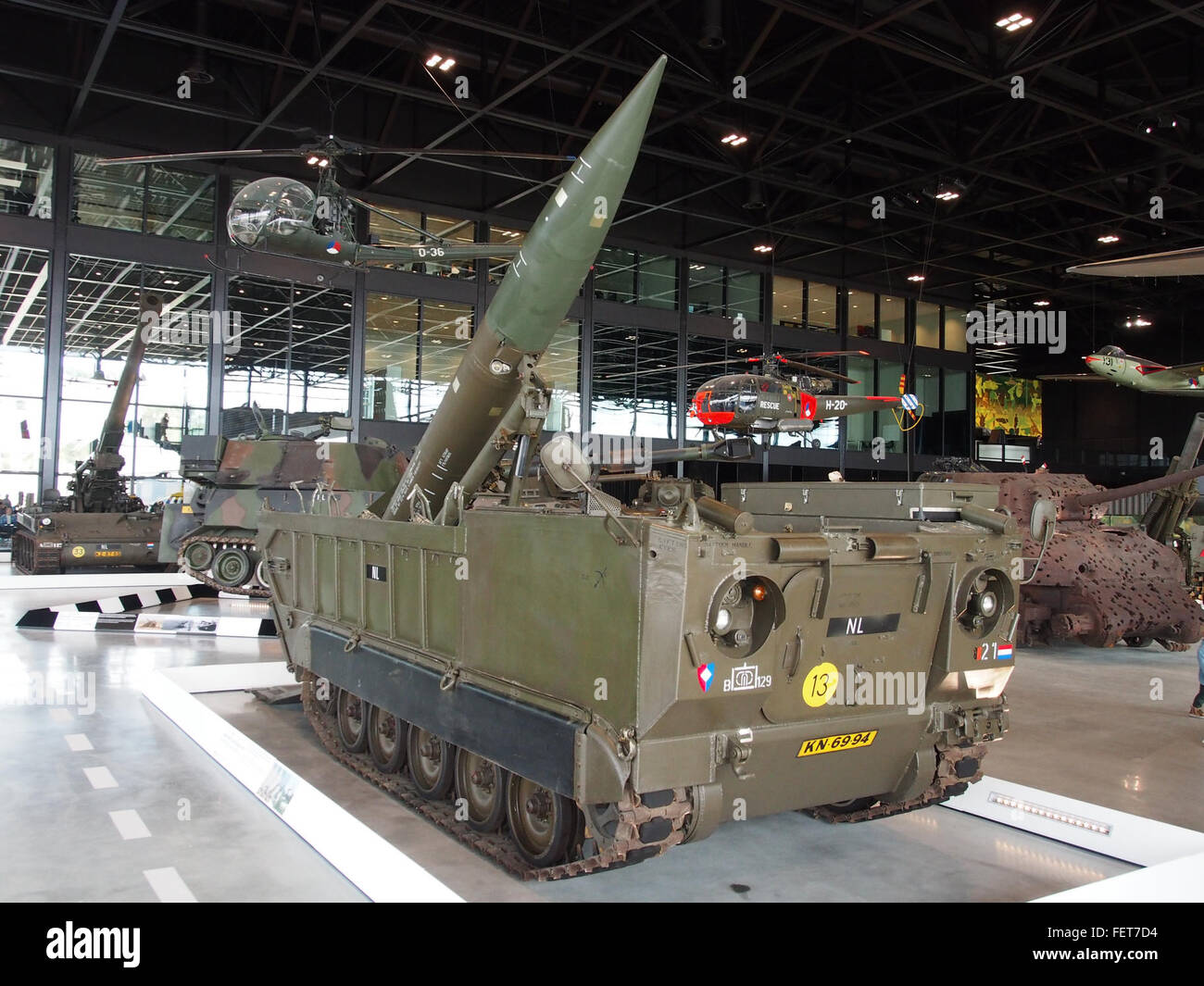 MGM-52 Lance rocket on M752 self-propelled launcher pic3 - Stock Image