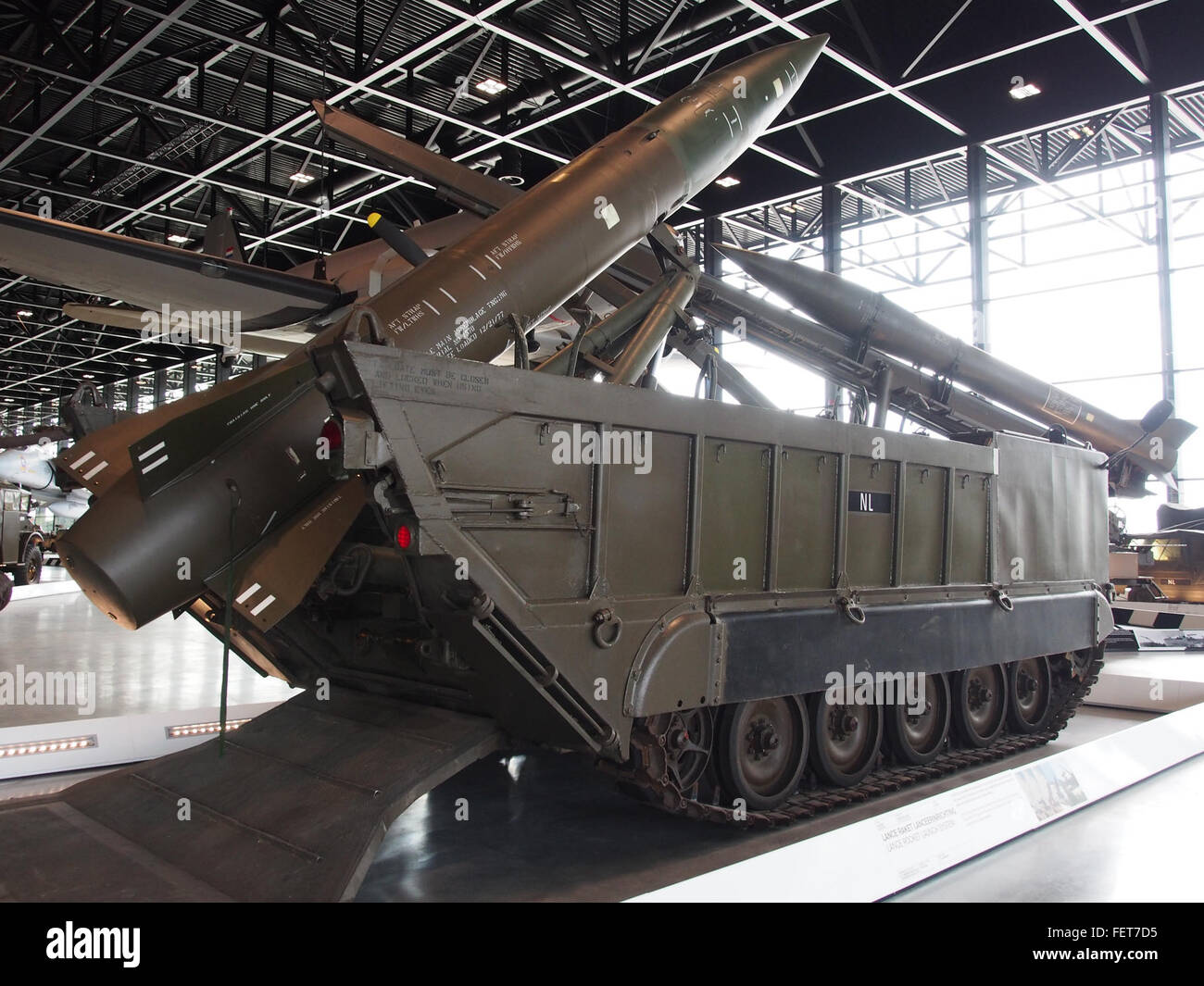 MGM-52 Lance rocket on M752 self-propelled launcher pic4 - Stock Image