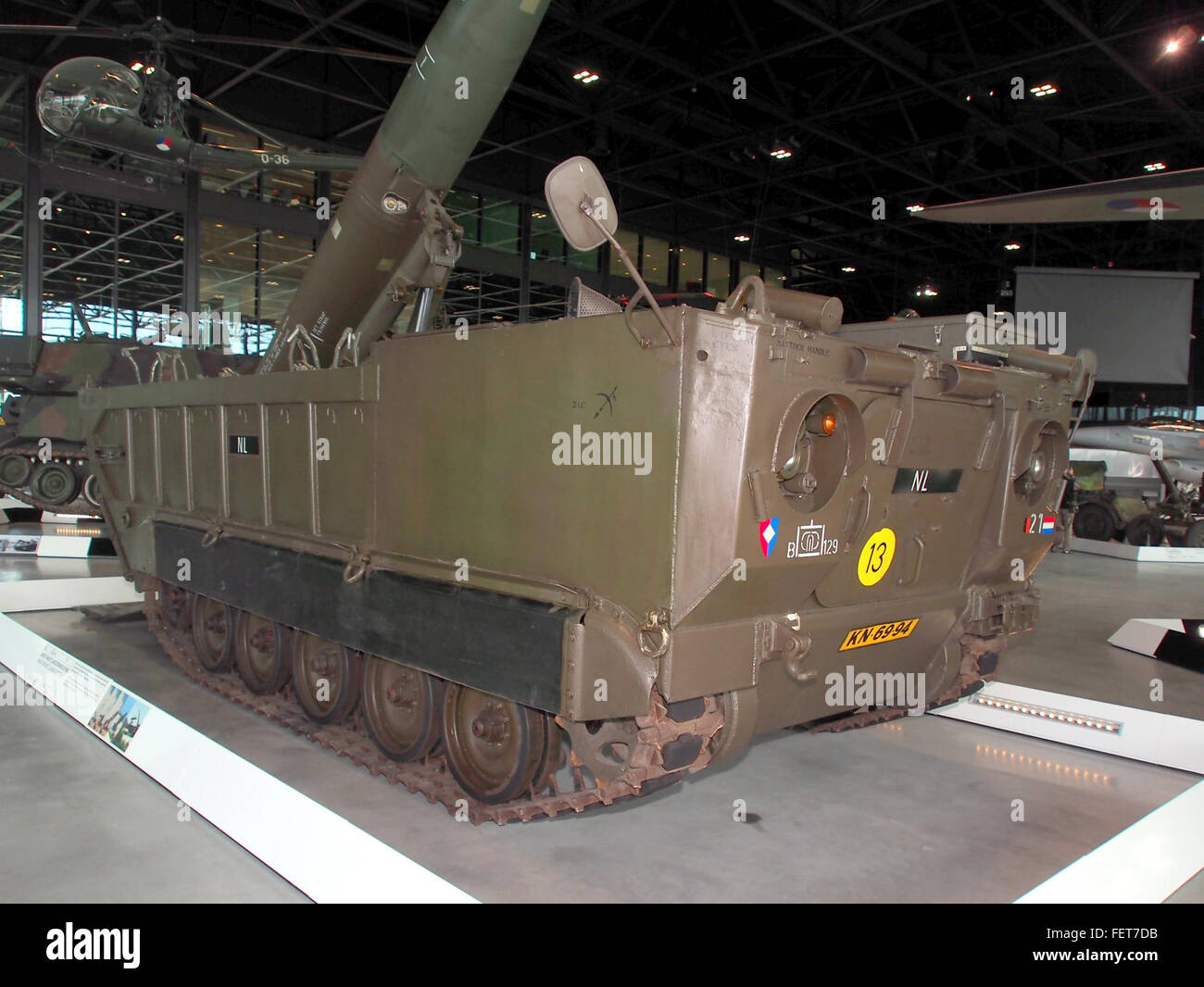MGM-52 Lance rocket on M752 self-propelled launcher pic6 - Stock Image