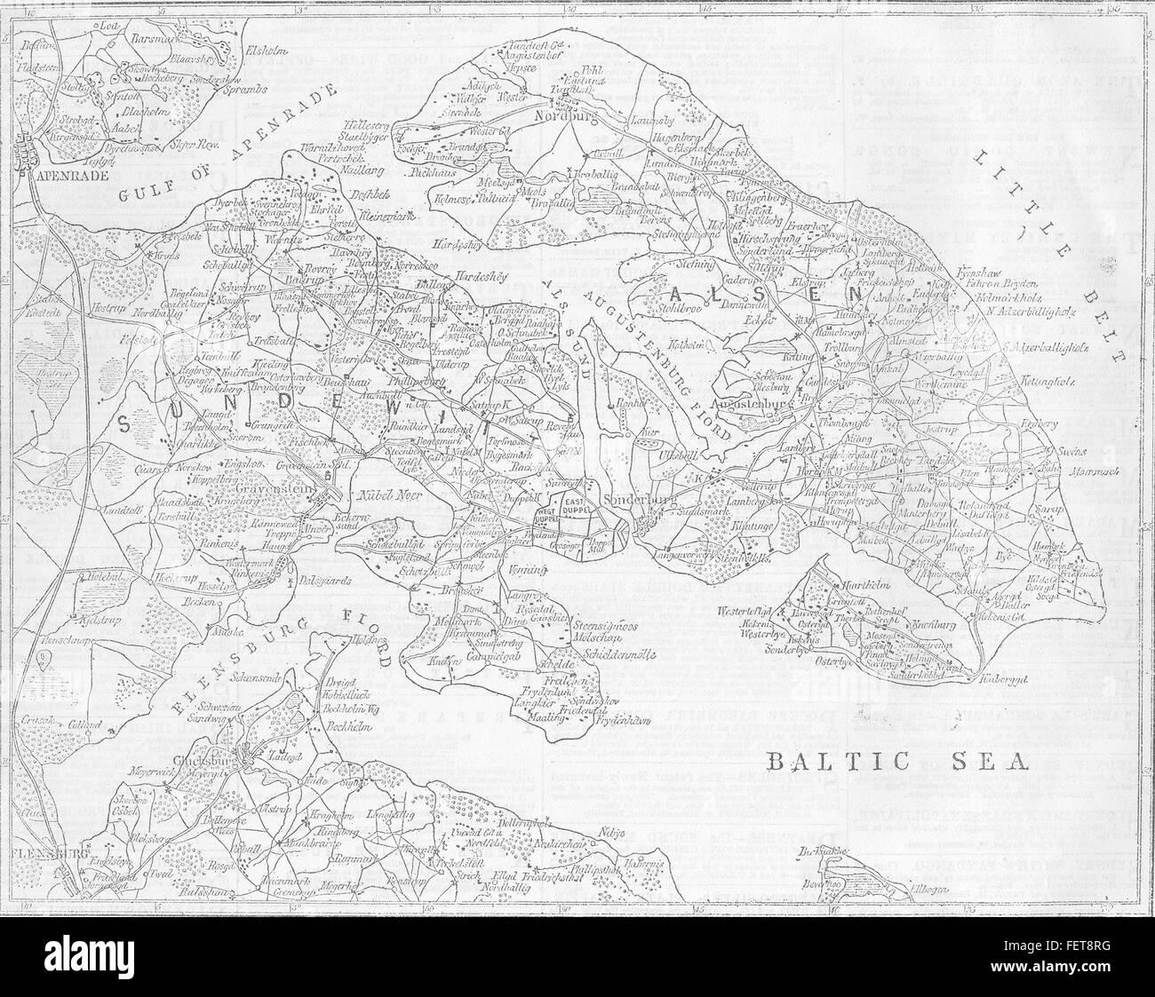 Denmark Schleswig Holstein Seat Of War Denmark 1864 Illustrated
