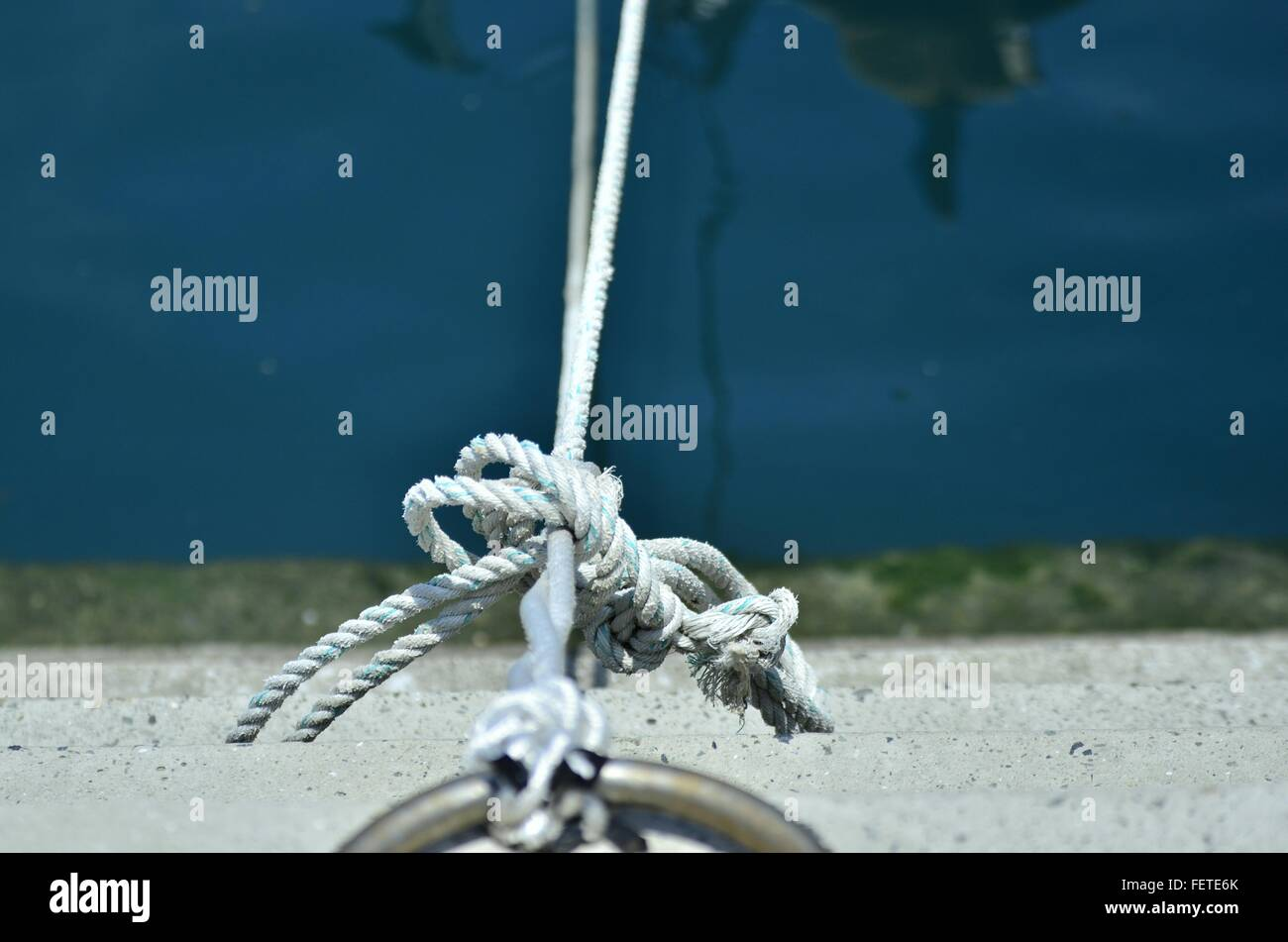 Tied Up Rope - Stock Image