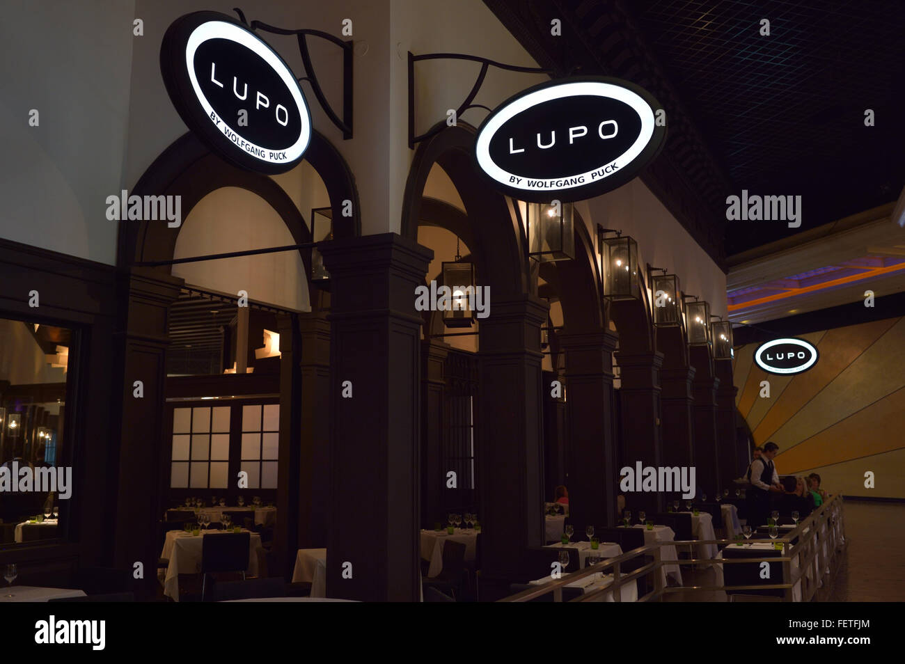 The (italian) Lupo restaurant by Wolfgang Puck, Las Vegas NV Stock Photo