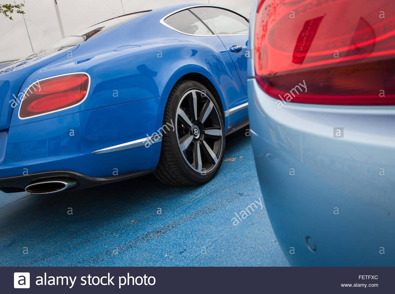 Car Tail Lights - Stock Image