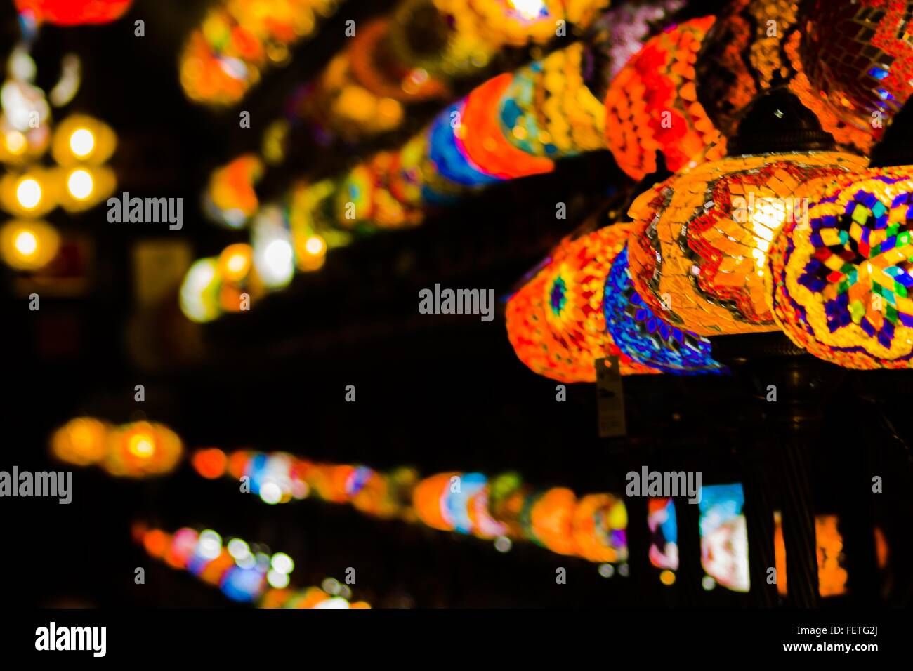 Multi Colored Lanterns - Stock Image