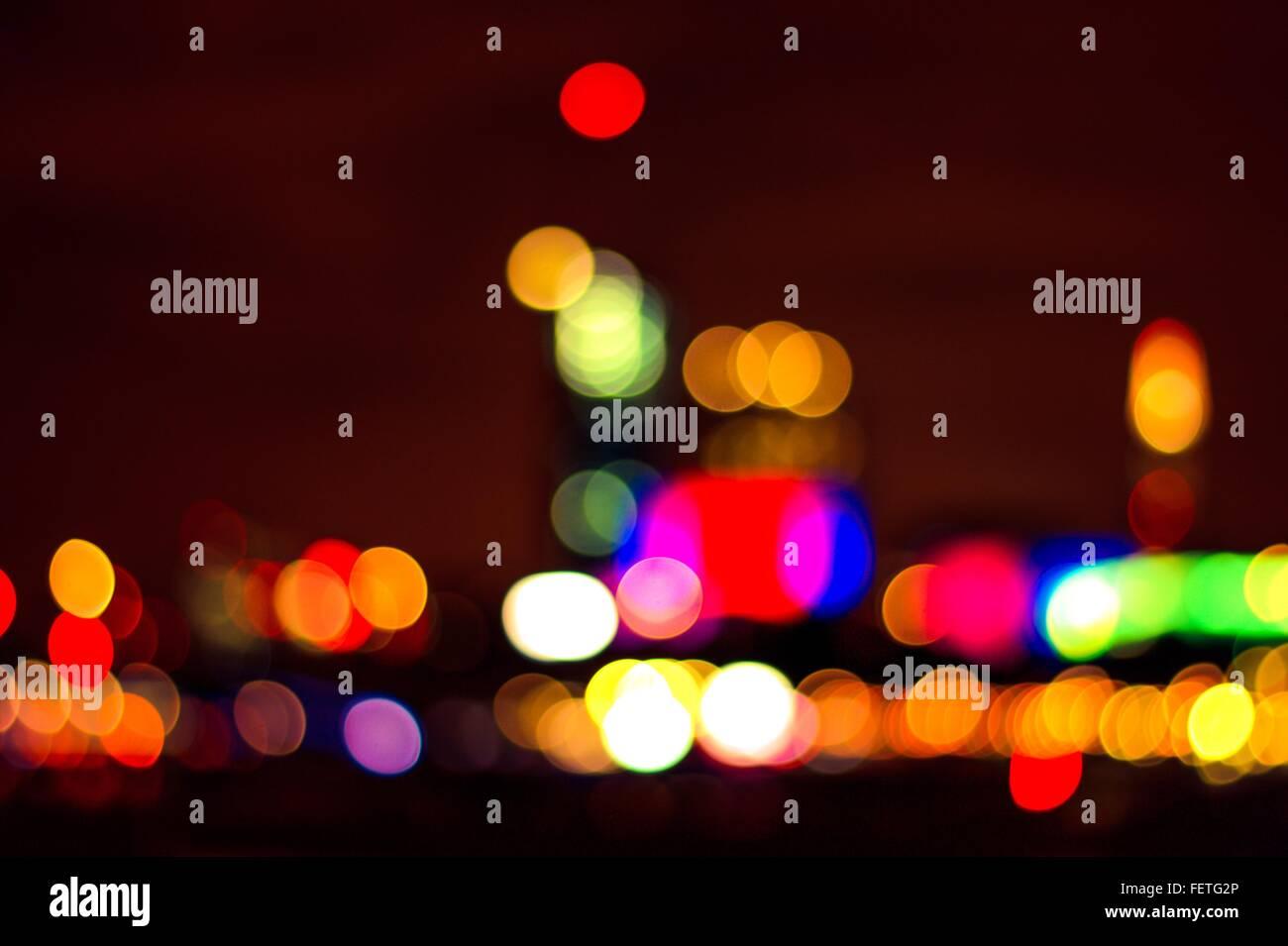Multi Colored Lights - Stock Image